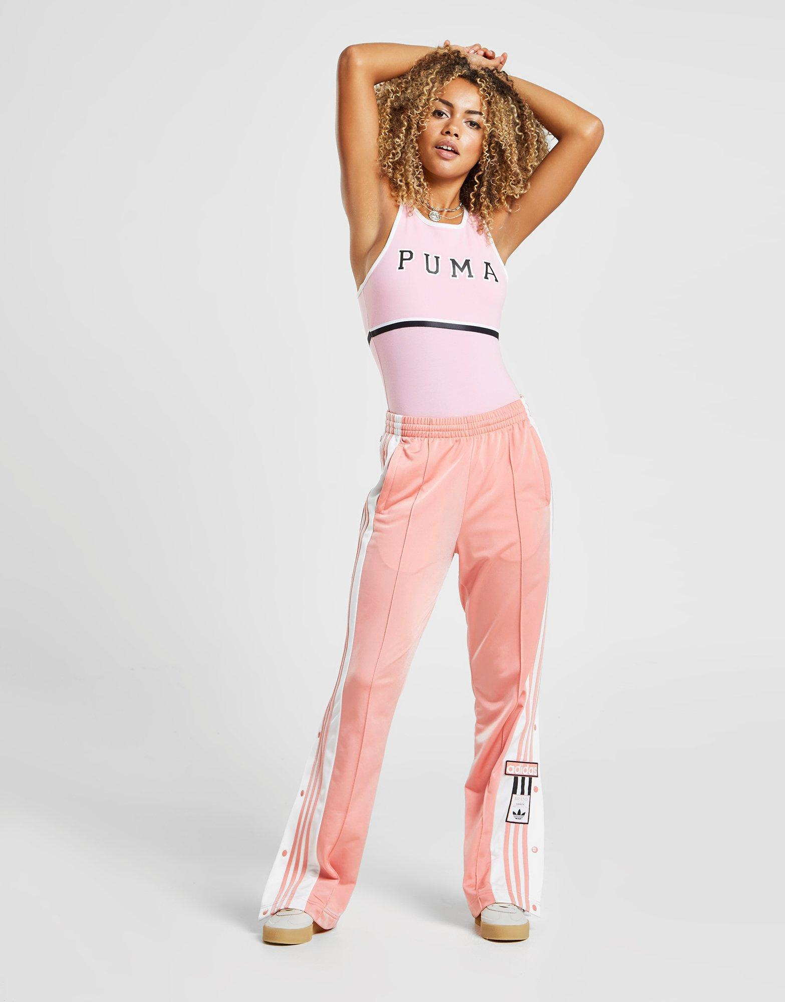 adidas Synthetic Adibreak Track Pants in PinkWhite (Pink