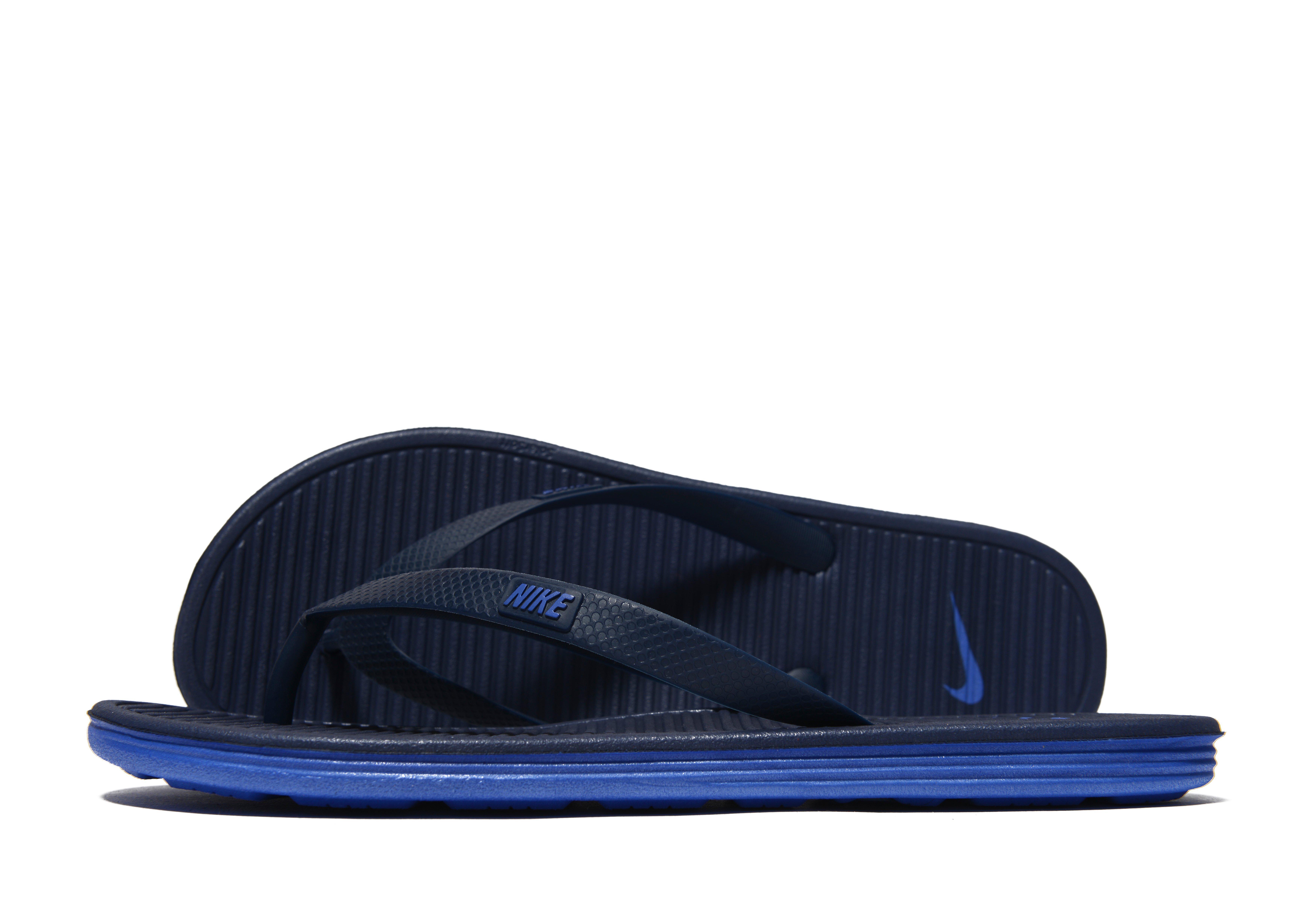 7bba2abb625 Nike Solarsoft Ii Flip Flops in Blue for Men - Lyst