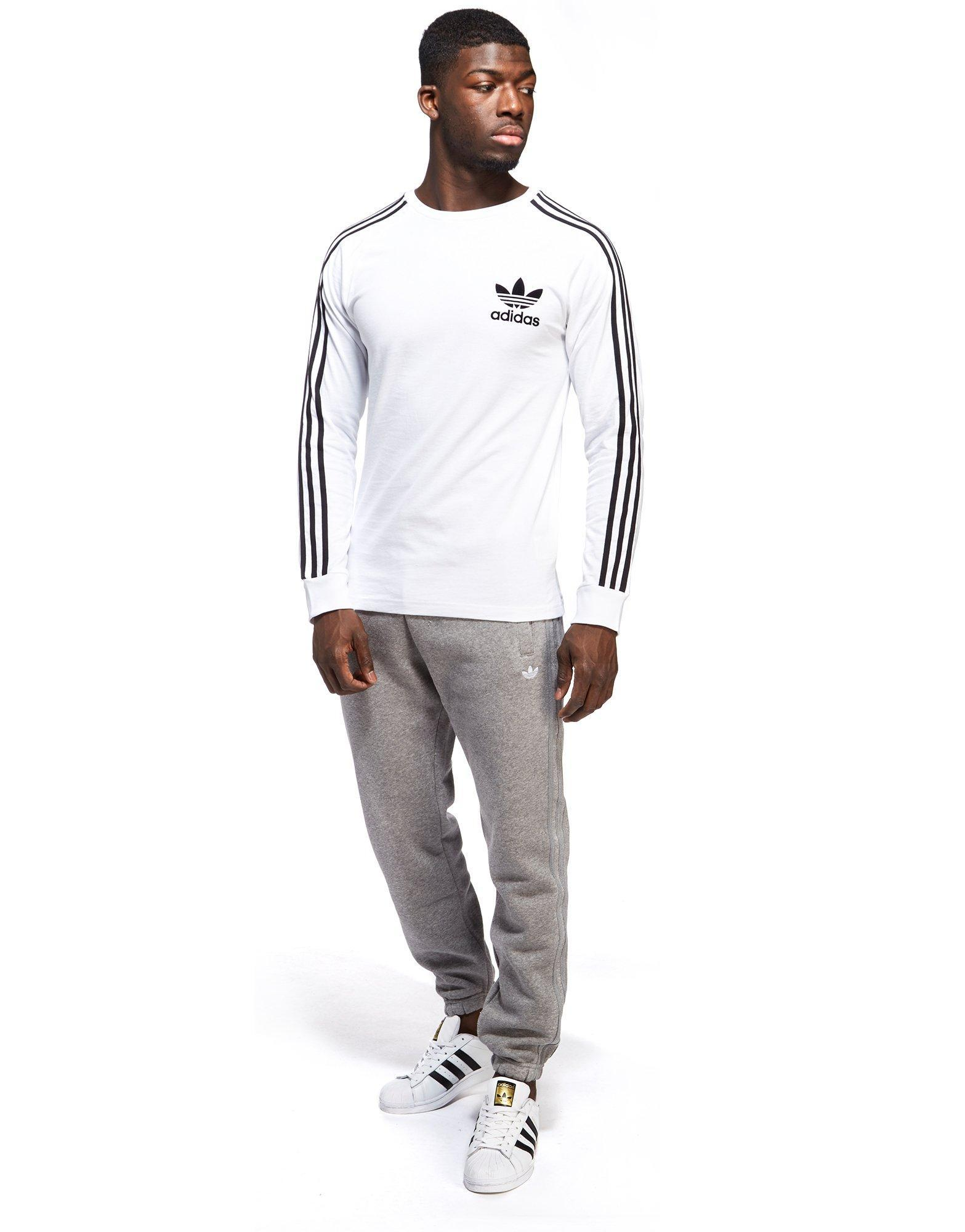 6c09373a1 adidas Originals California Long Sleeve T-shirt in White for Men - Lyst