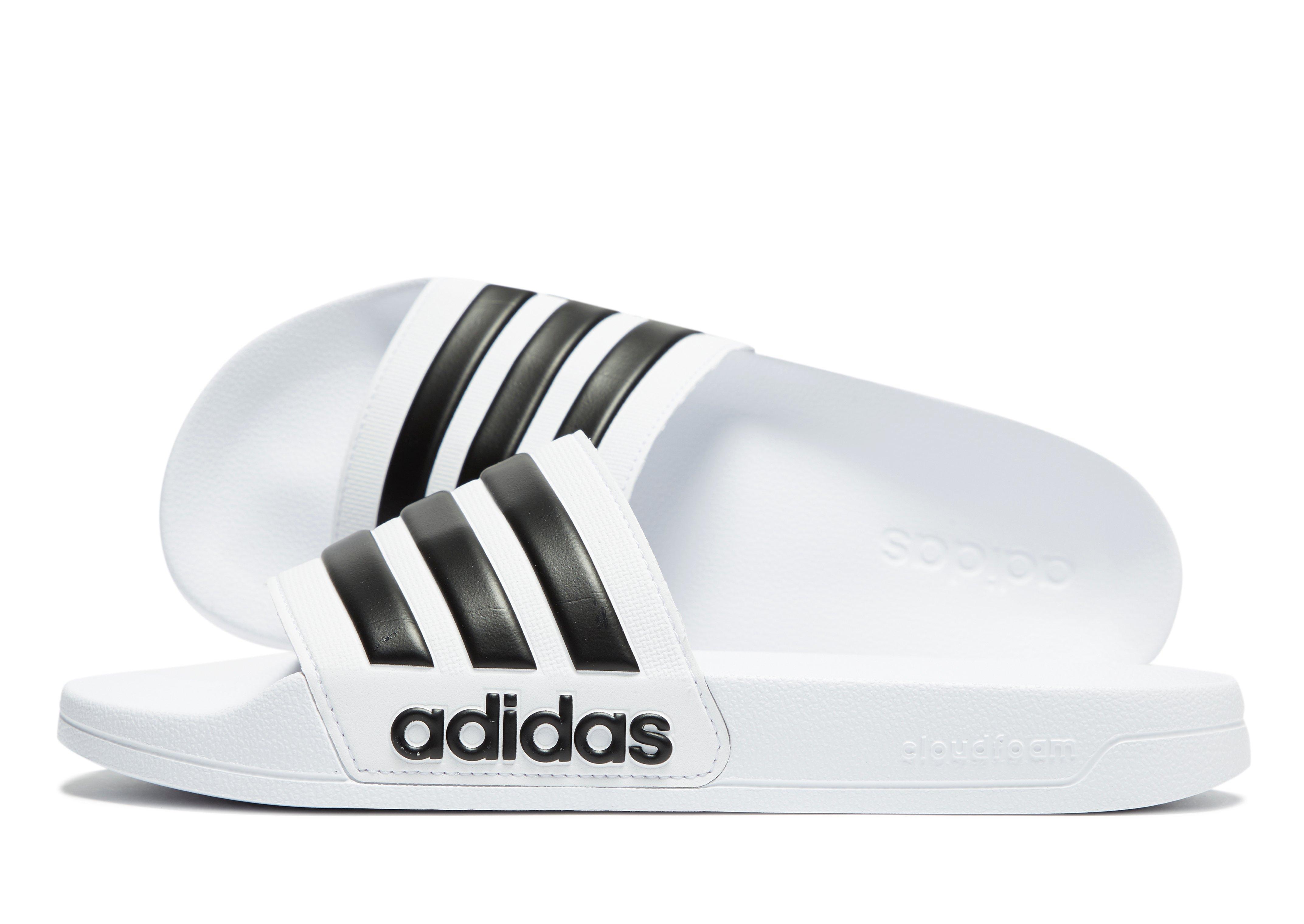 0b6fb3ccb7882b Adidas - White Adilette Cloudfoam Slides for Men - Lyst. View fullscreen