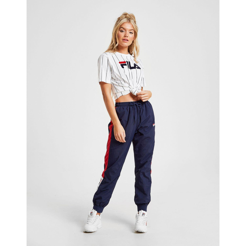 fafff16208a1 Fila Stripe Boyfriend T-shirt in Blue - Lyst