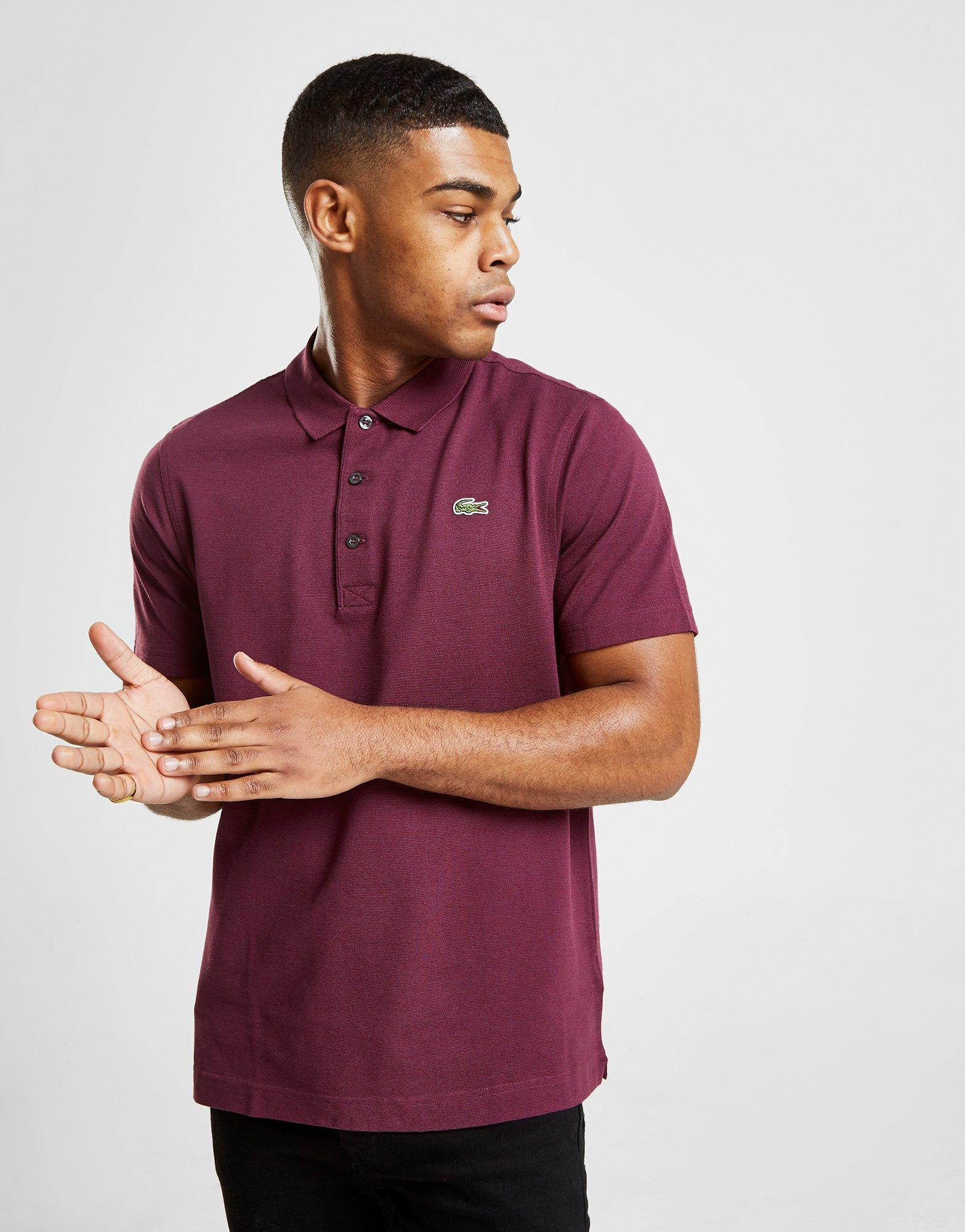 a9989cd7d Lyst - Lacoste Alligator Short Sleeve Polo Shirt in Purple for Men