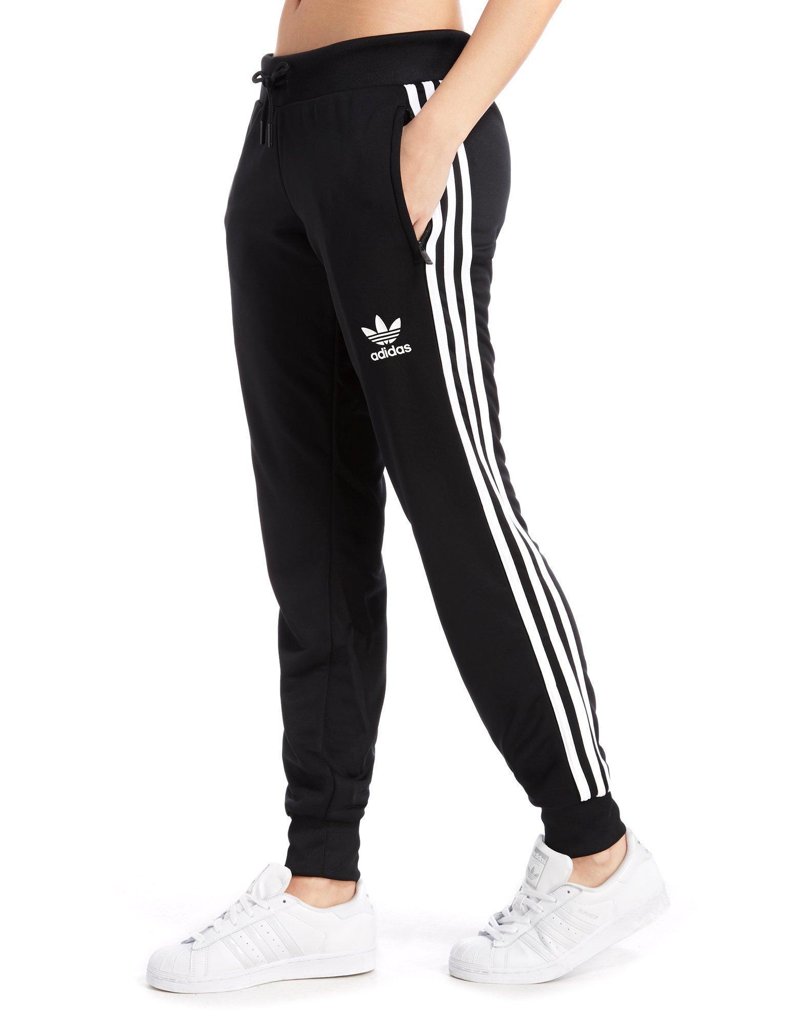 f7f534a6fb693 adidas Originals Poly 3-stripes Pants in Black - Lyst