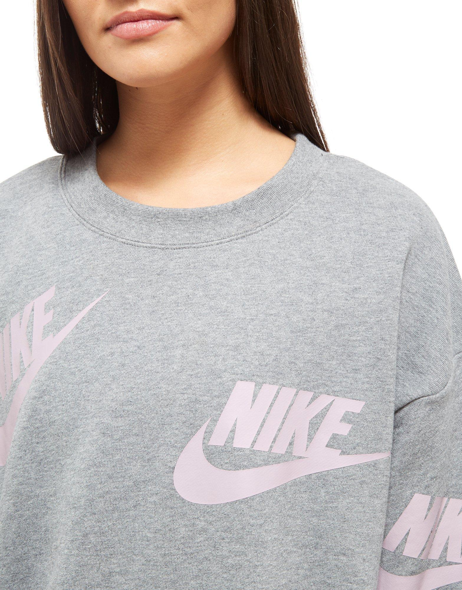 Nike Gray Crew All In Over Lyst Sweatshirt Futura Print OPN0kX8Znw