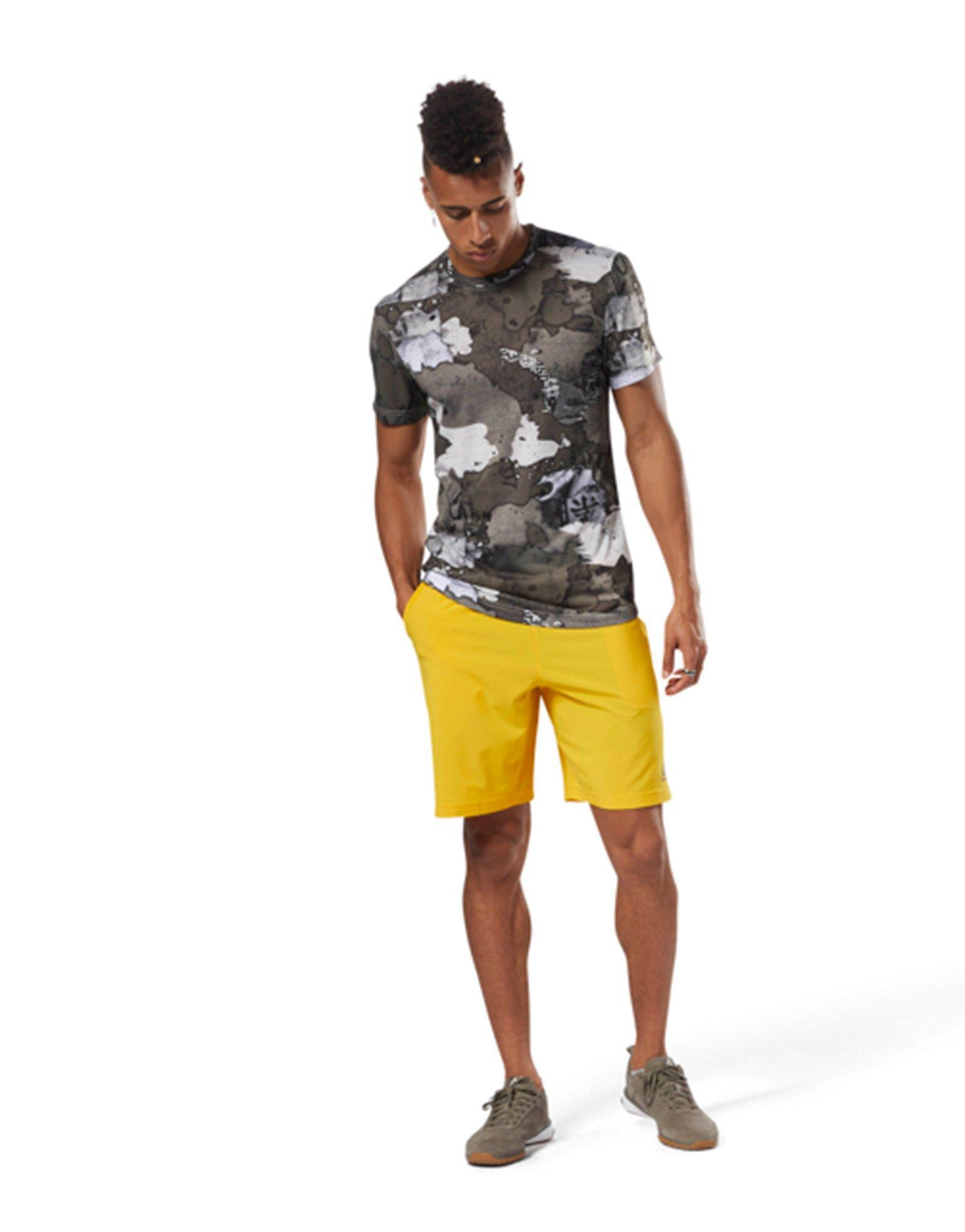 48f59c7052c9 Lyst - Reebok Speed Shorts in Yellow for Men