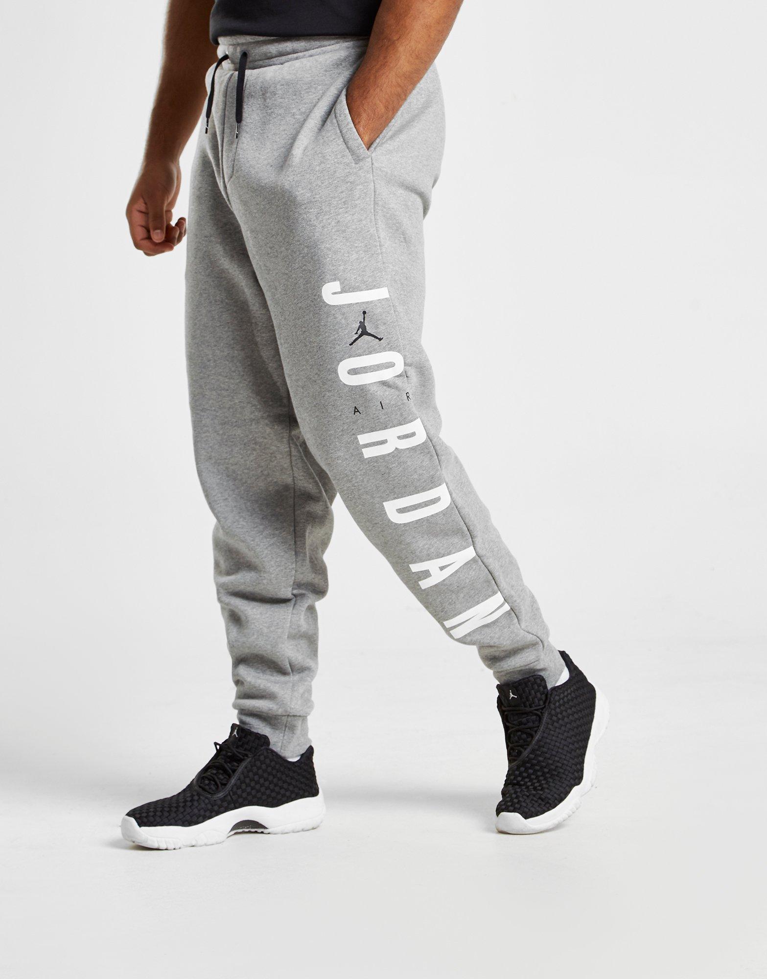 7f2c876d4100 Nike Jordan Sportswear Jumpman Air Men s Fleece Trousers in Gray for Men -  Lyst