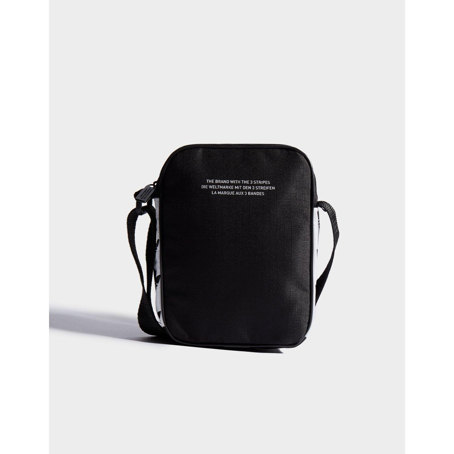 be64ec7eec Adidas Originals - Black Mini Tape Crossbody Bag - Lyst. View fullscreen