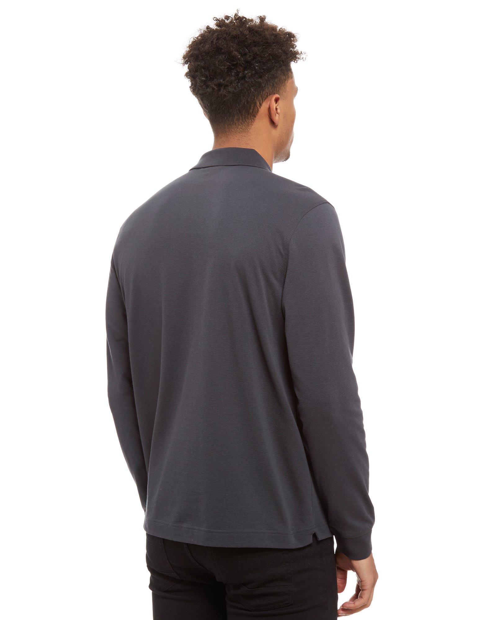 da595fc326c6 Lacoste Alligator Long Sleeve Polo Shirt in Gray for Men - Lyst