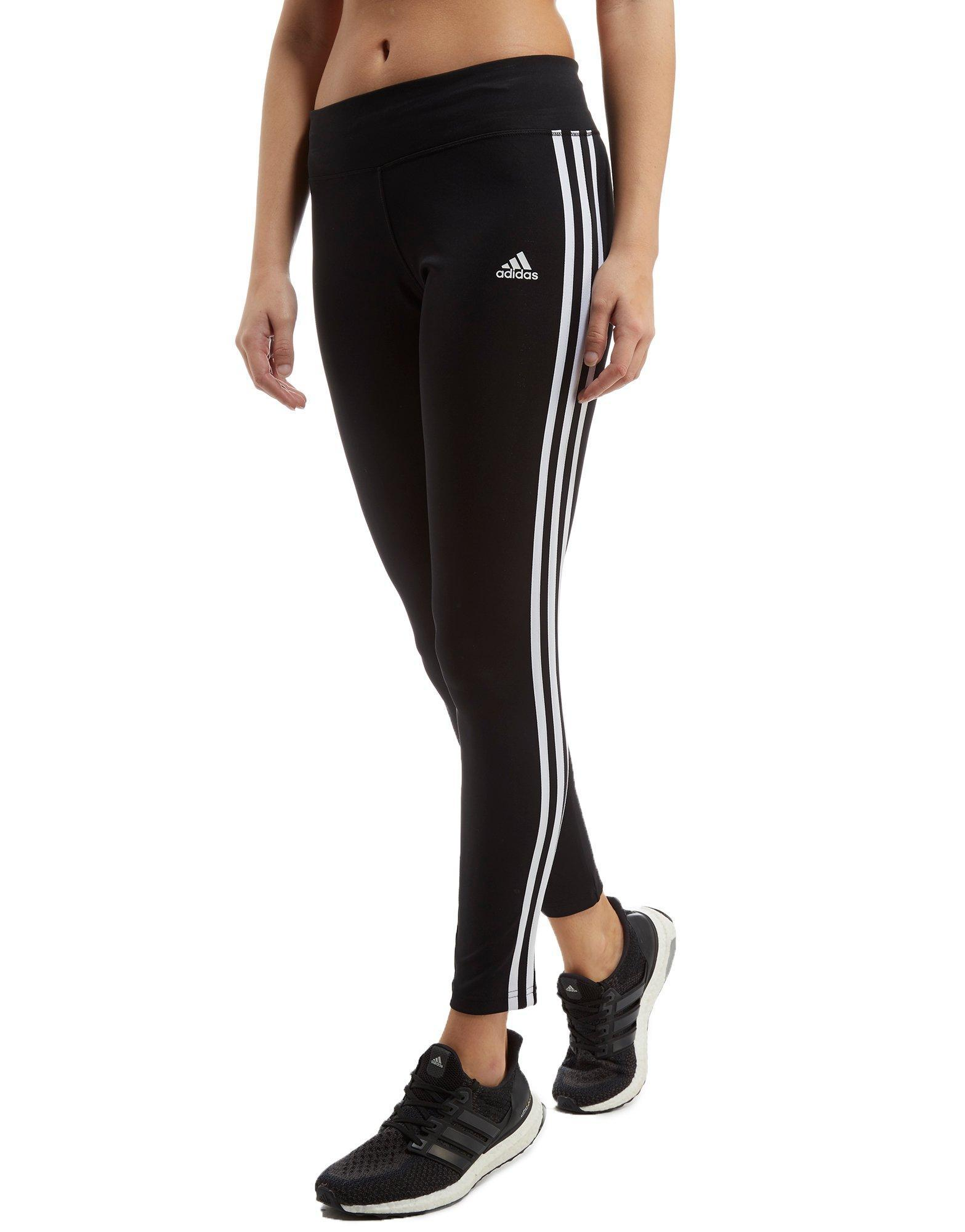 Lyst Adidas 19999 Basic Basic 3 rayas Black Long Tights in Black 09339a2 - generiskmedicin.website