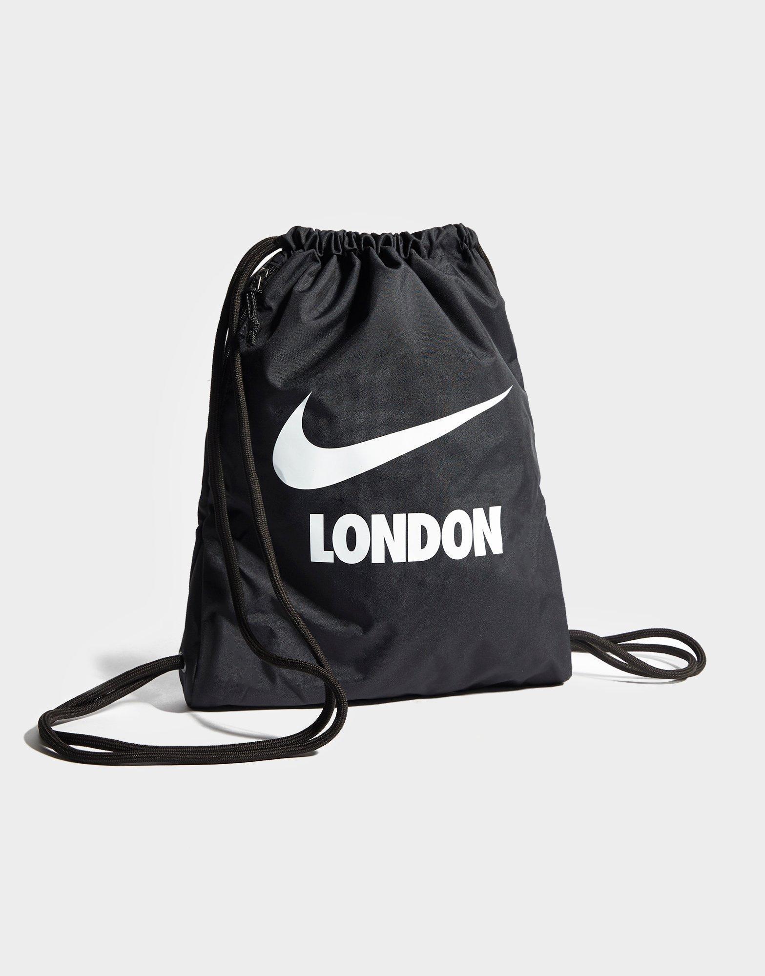 Lyst - Nike London Gym Sack in Black for Men 021ad3ba4333c