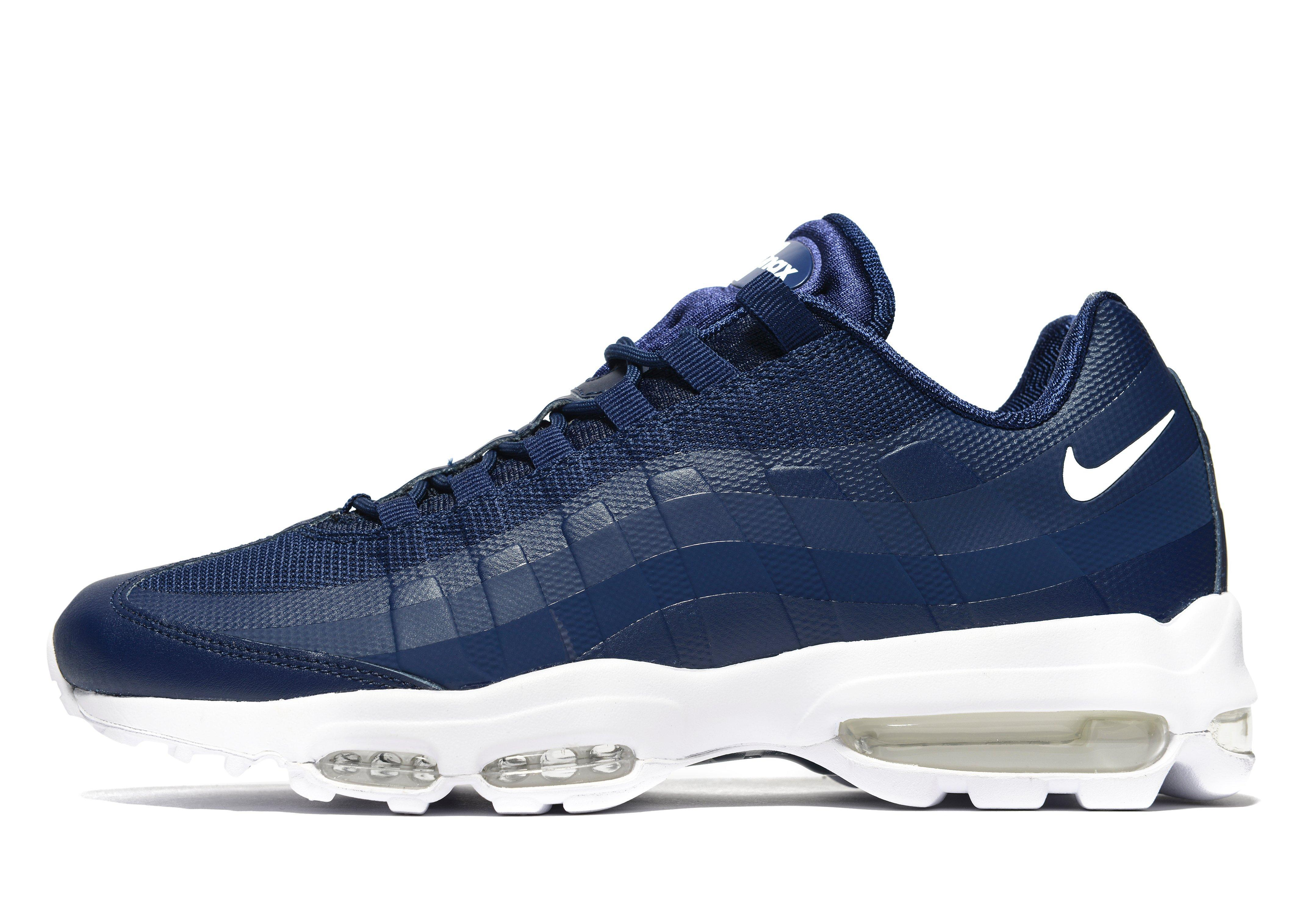 e3bd6d033ff Lyst - Nike Air Max 95 Ultra Essential in Blue for Men nike air max 95  ultra essential blue and white