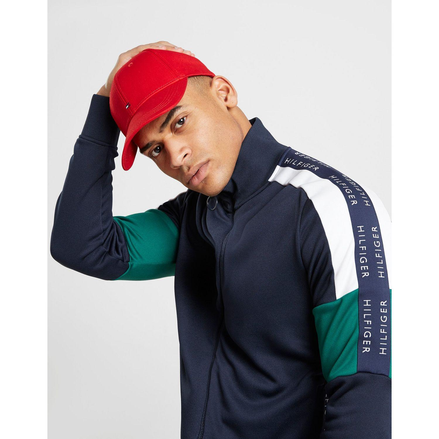 2e920737 Lyst - Tommy Hilfiger Classic Flag Cap in Red