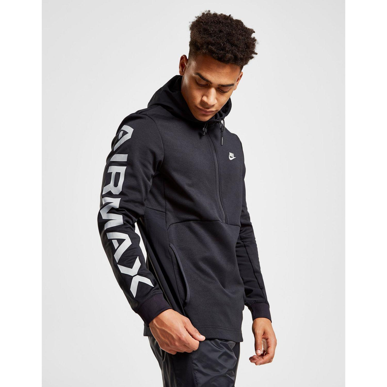 100% authentic 77c88 2f938 Nike Air Max Poly 1 2 Zip Hoodie in Black for Men - Lyst