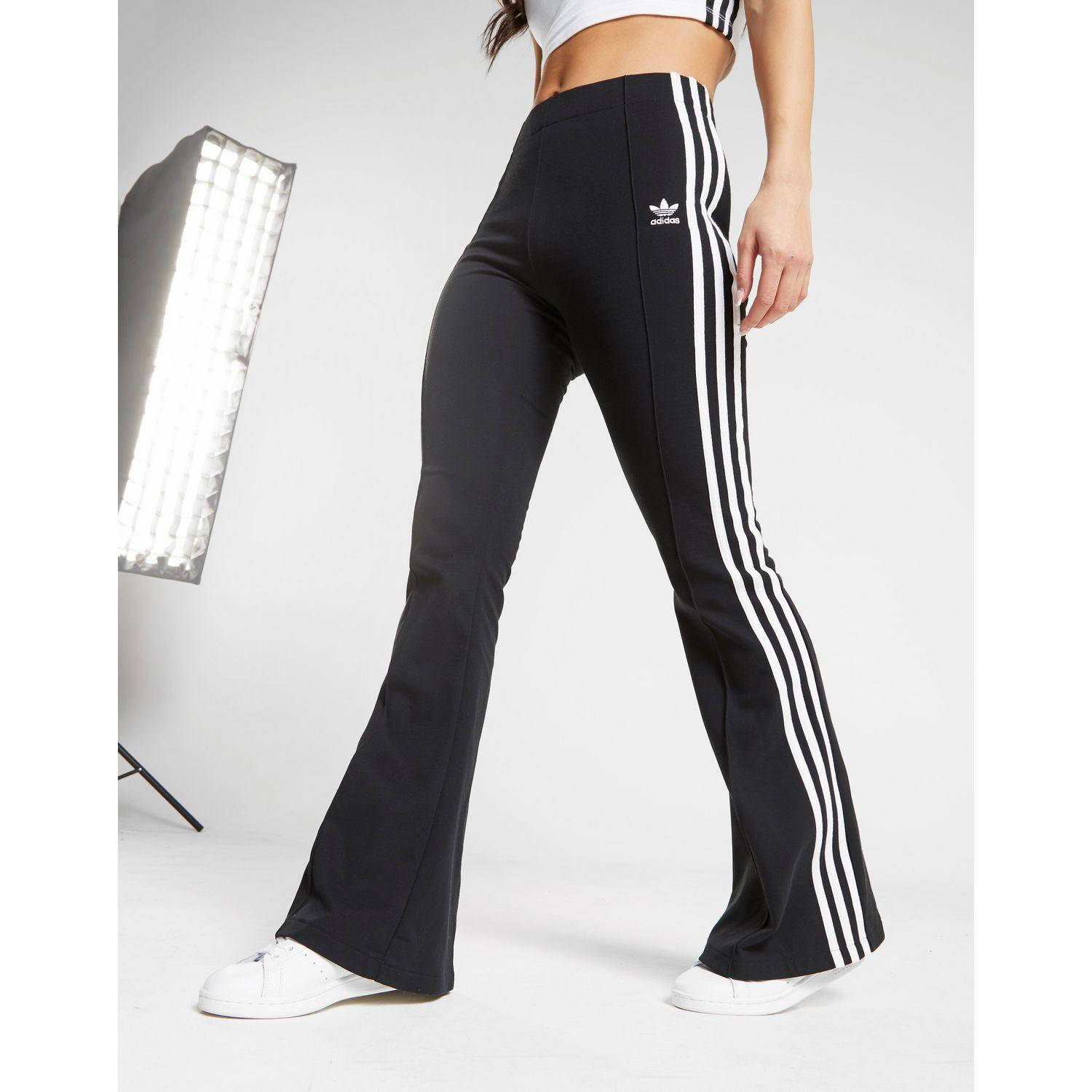 limited style top-rated official 2019 original Adidas Originals Black 3-stripes Flared Track Pants