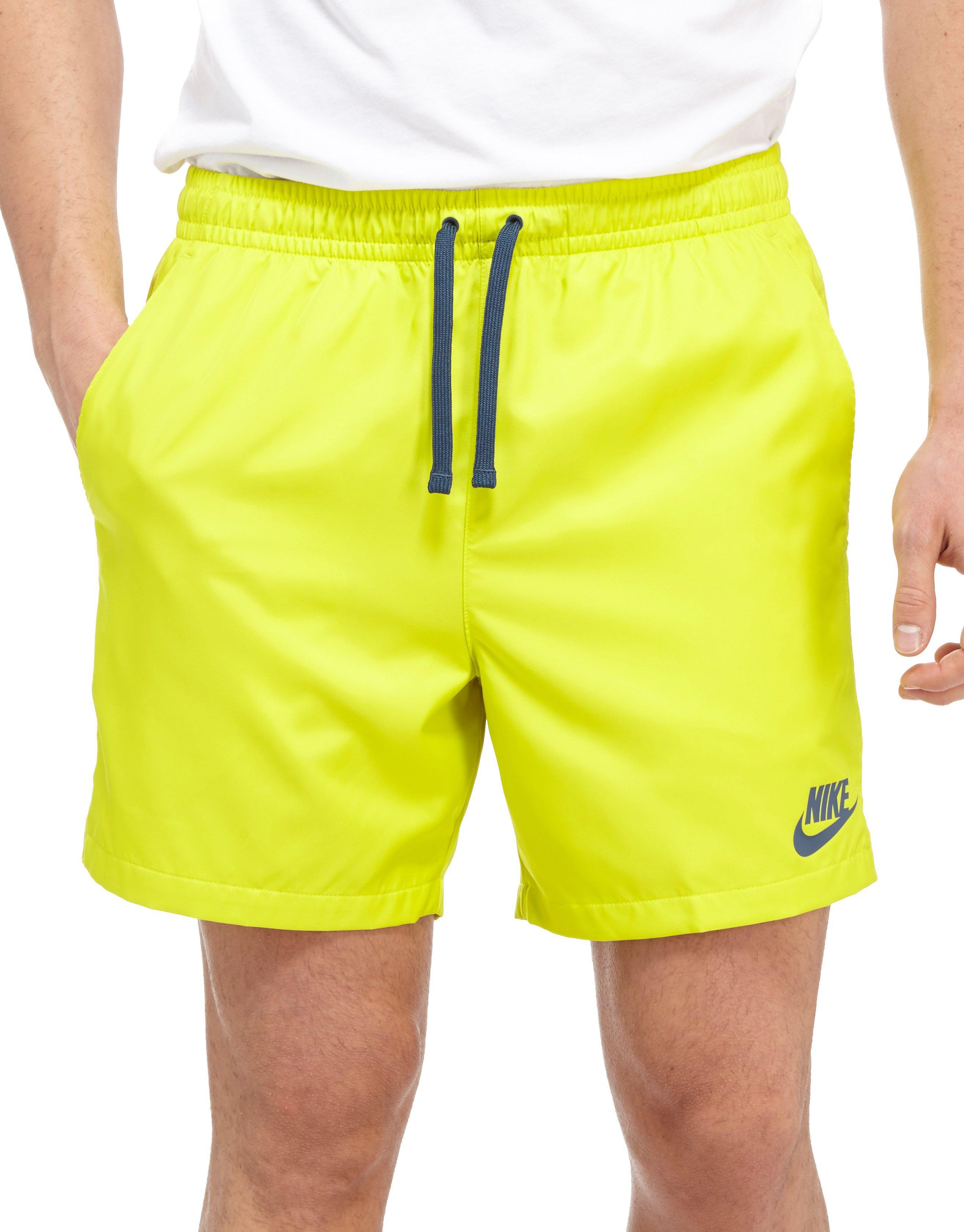 c196bfc962d Nike Flow Swimming Short in Yellow for Men - Lyst