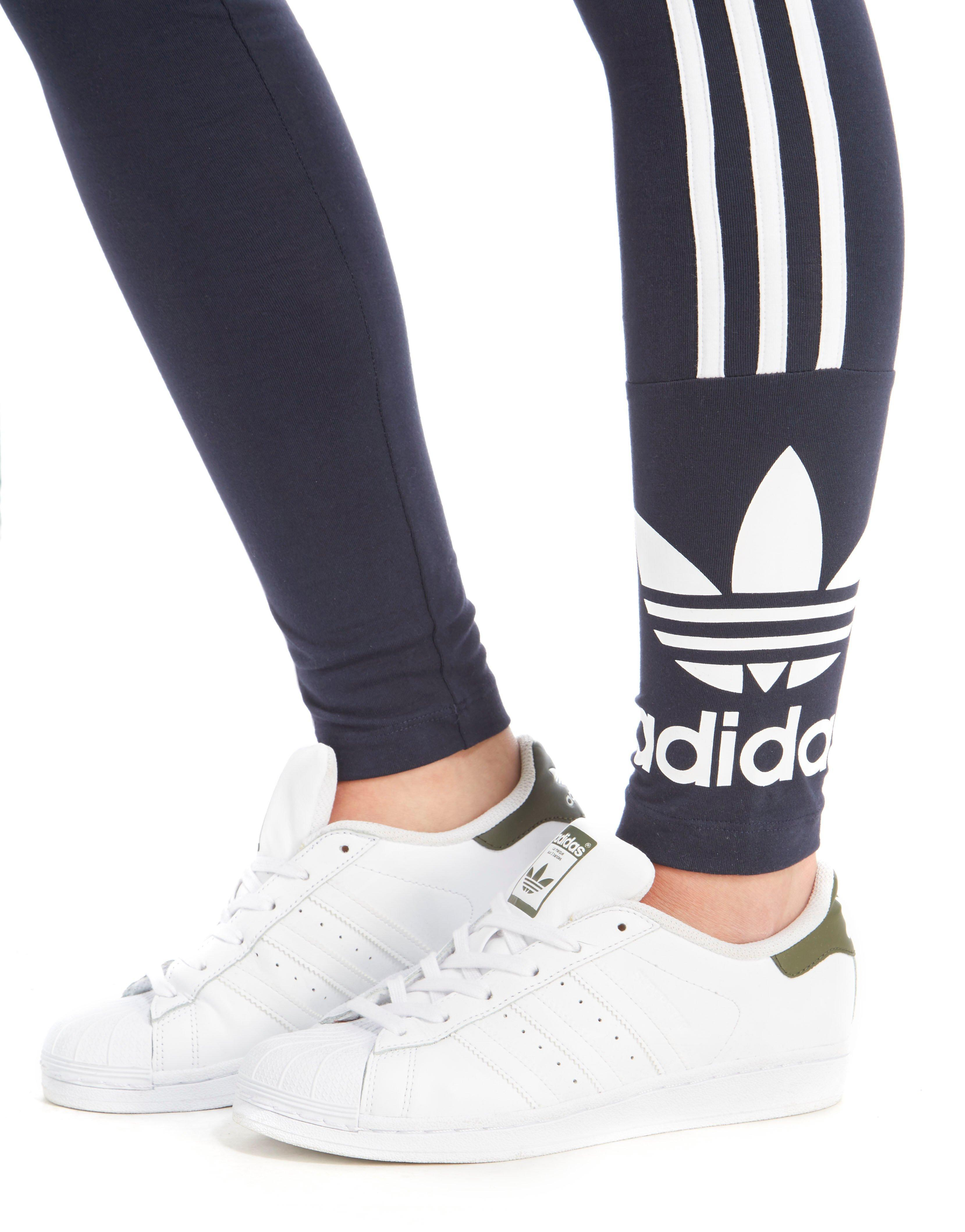 Adidas Originals Trefoil Lyst 3 Stripe leggings en azul