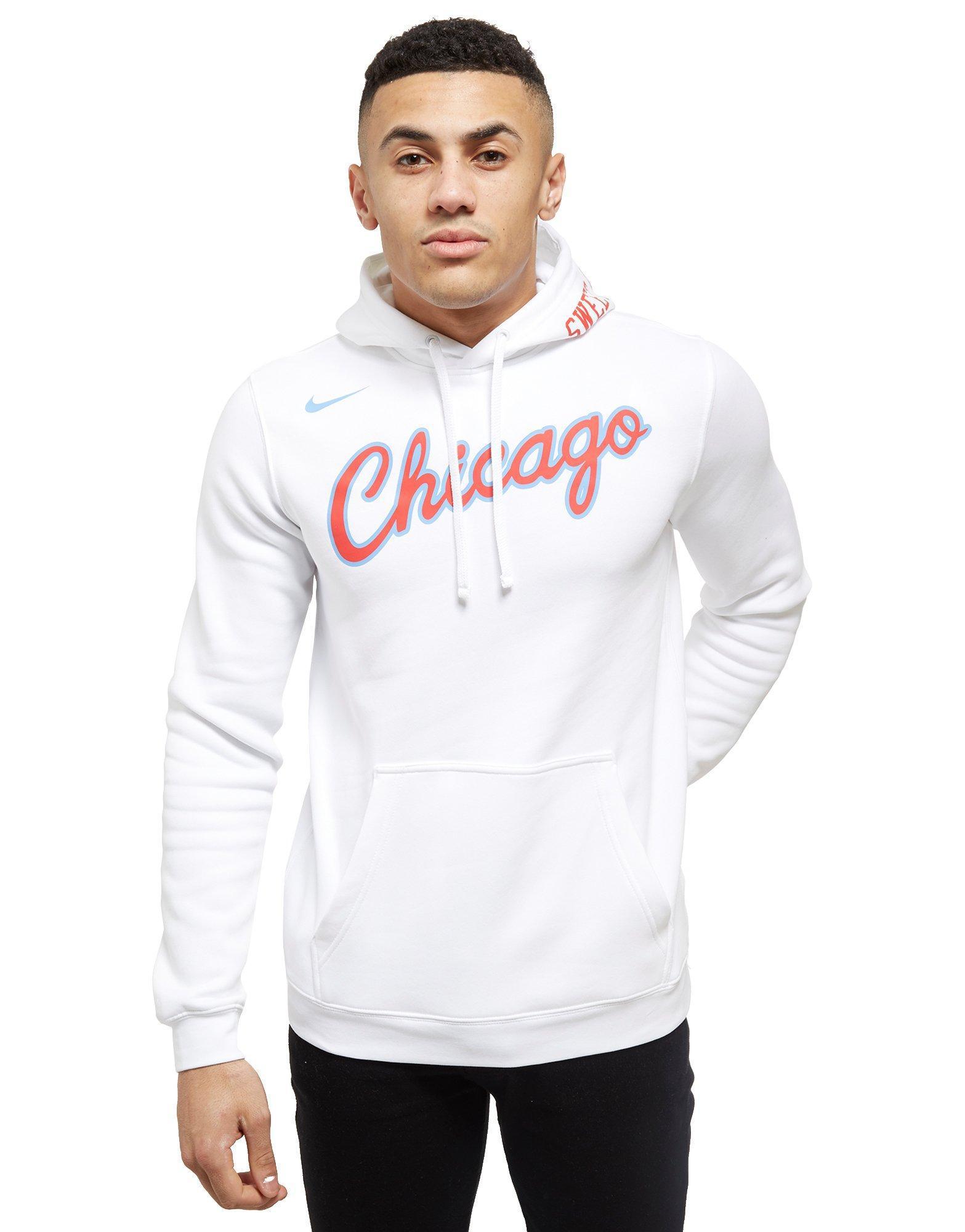 45b75d841d75 Lyst - Nike Nba Chicago Bulls City Hoodie in White for Men