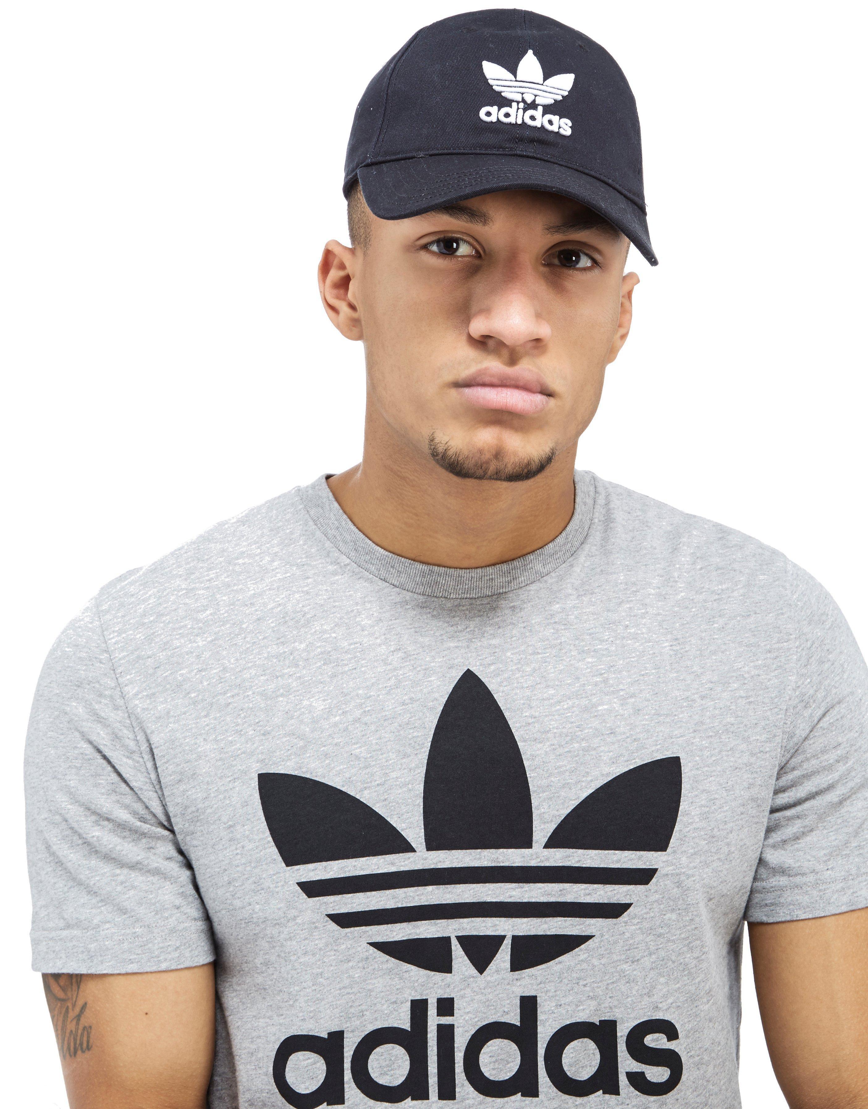 Adidas Originals - Black Trefoil Classic Cap for Men - Lyst. View Fullscreen