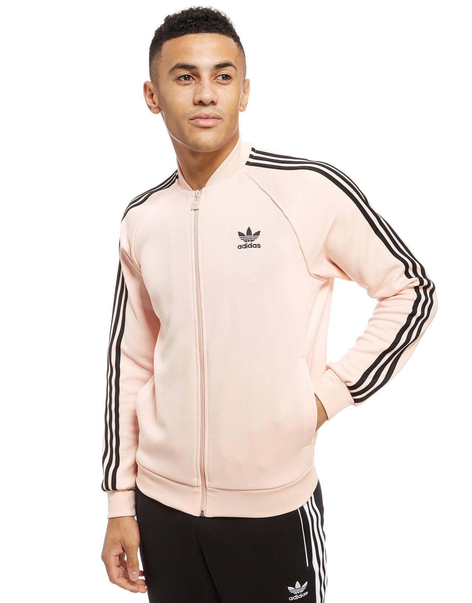 191c80f27c386f Lyst - adidas Originals Superstar Track Top in Pink for Men