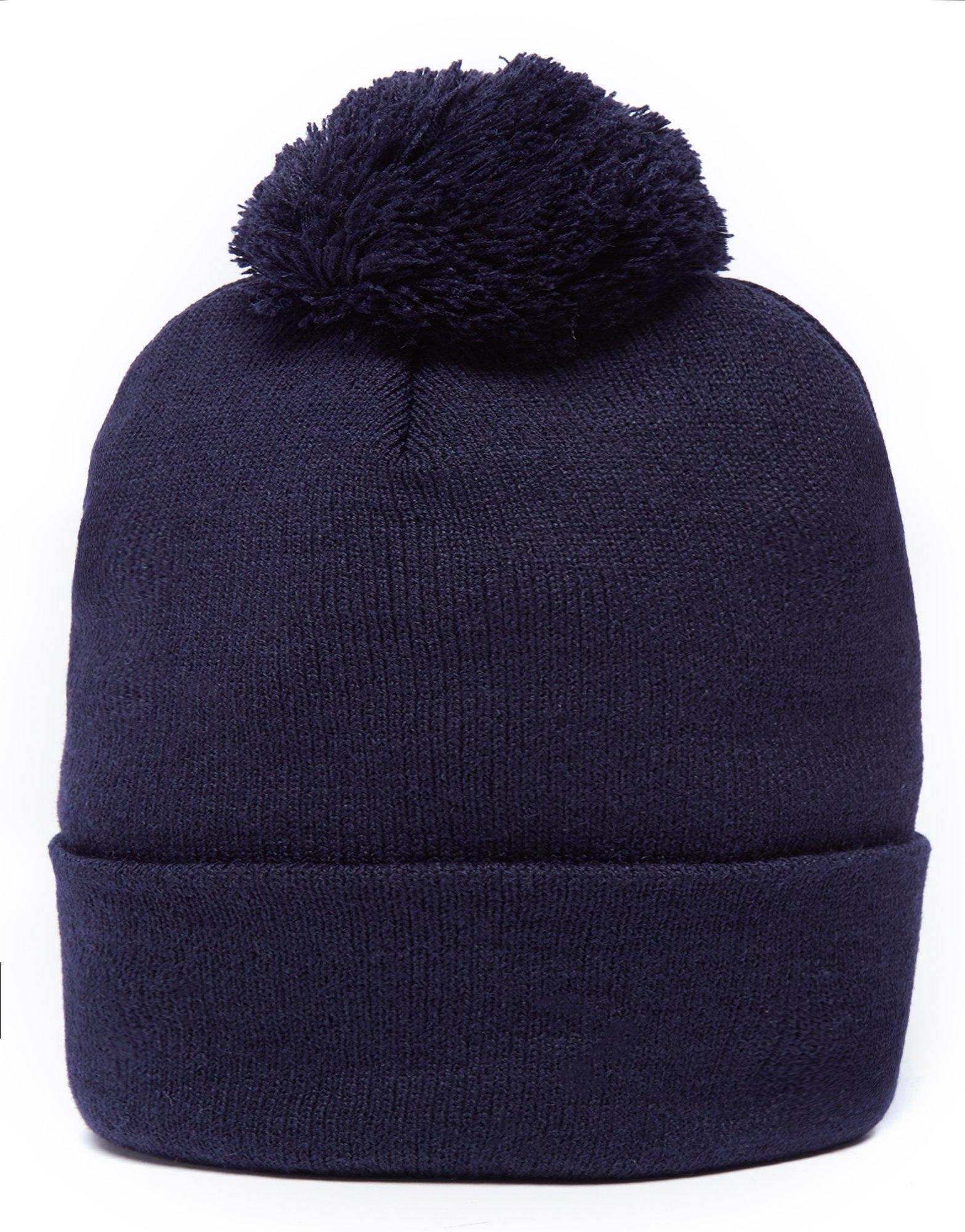 Ellesse Patch Pom Pom Beanie Hat in Blue for Men - Lyst 7847ee3c9dc2