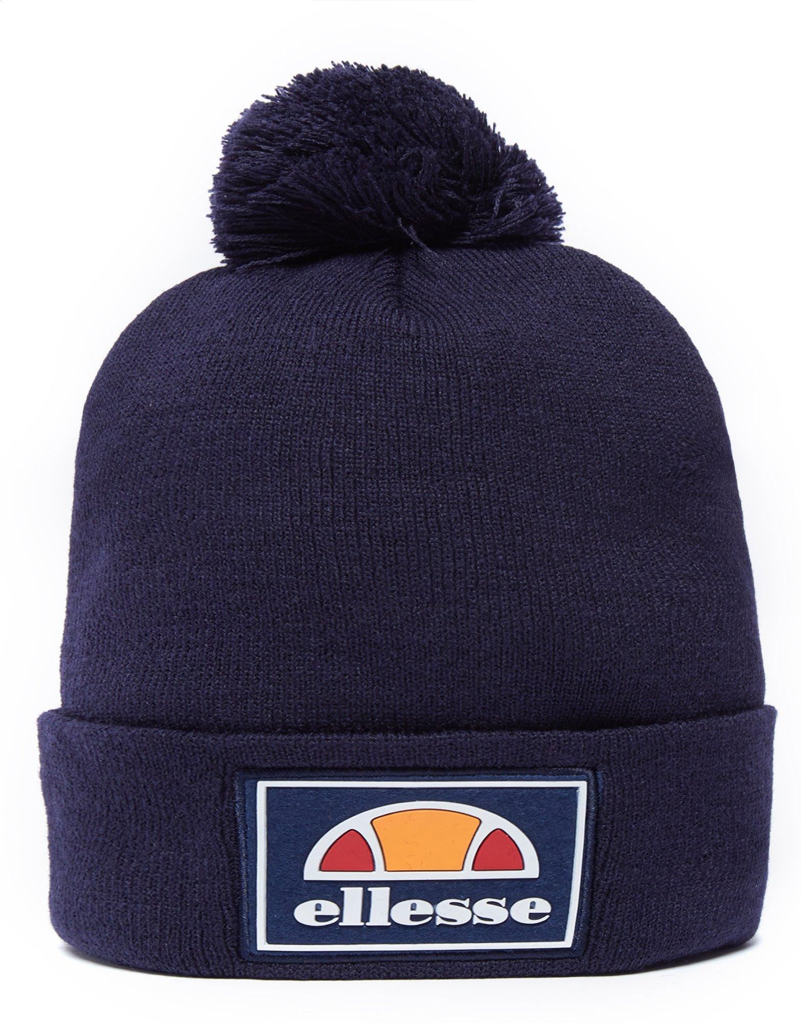 a0814498 Ellesse Patch Pom Pom Beanie Hat in Blue for Men - Lyst