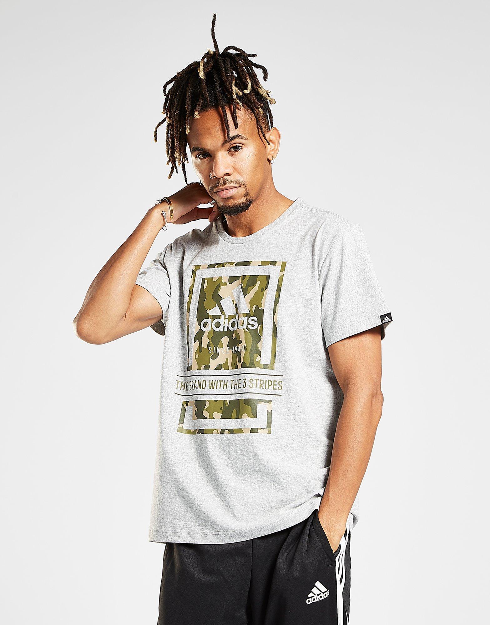 eea11e27 Adidas - Gray Box Camo T-shirt for Men - Lyst. View fullscreen