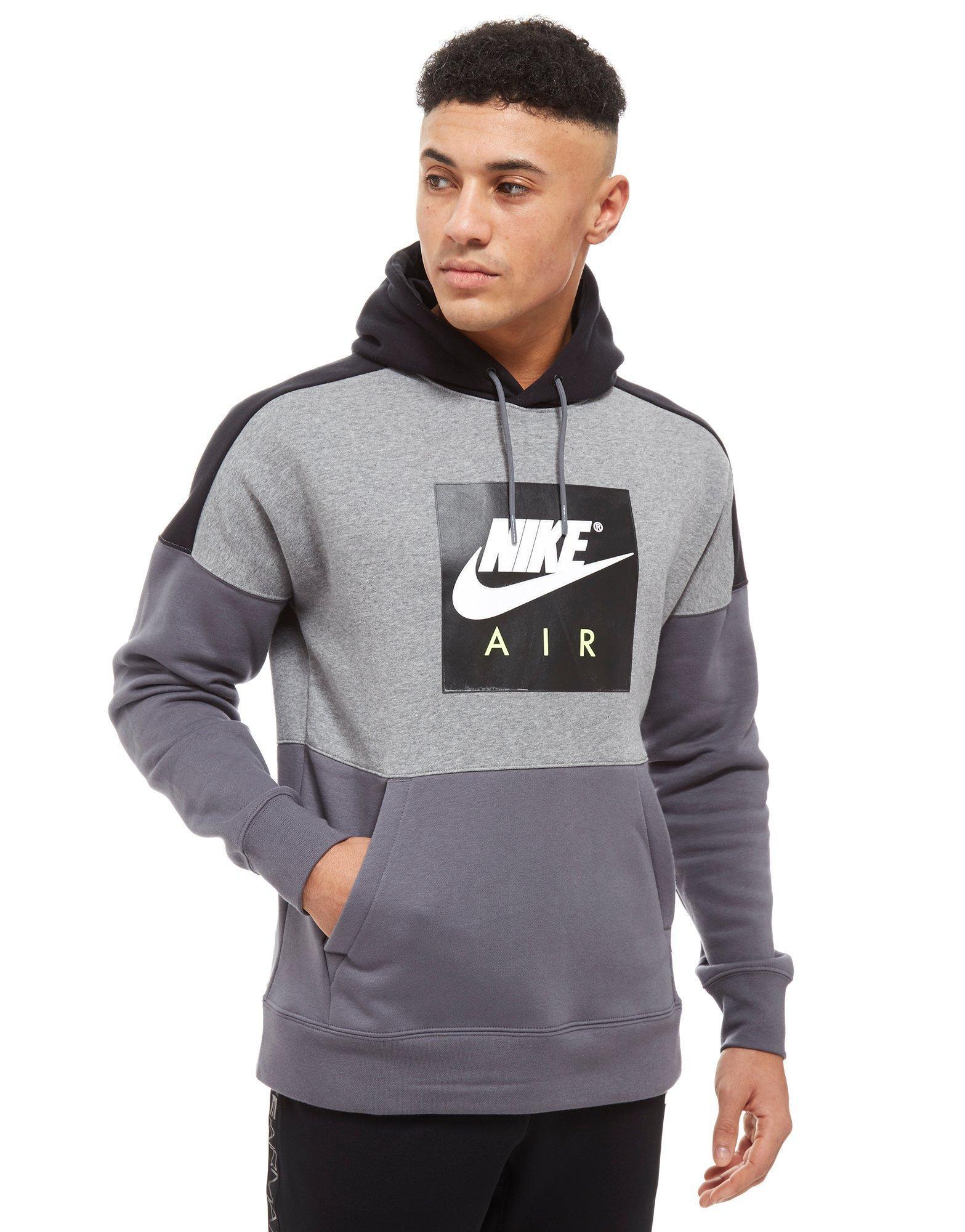 Nike Air Overhead Colourblock Hoodie in Gray for Men - Lyst