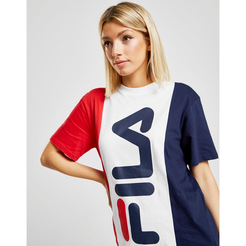 a78d1ce93c64 Fila Multicolor Panel Boyfriend T-shirt. View fullscreen
