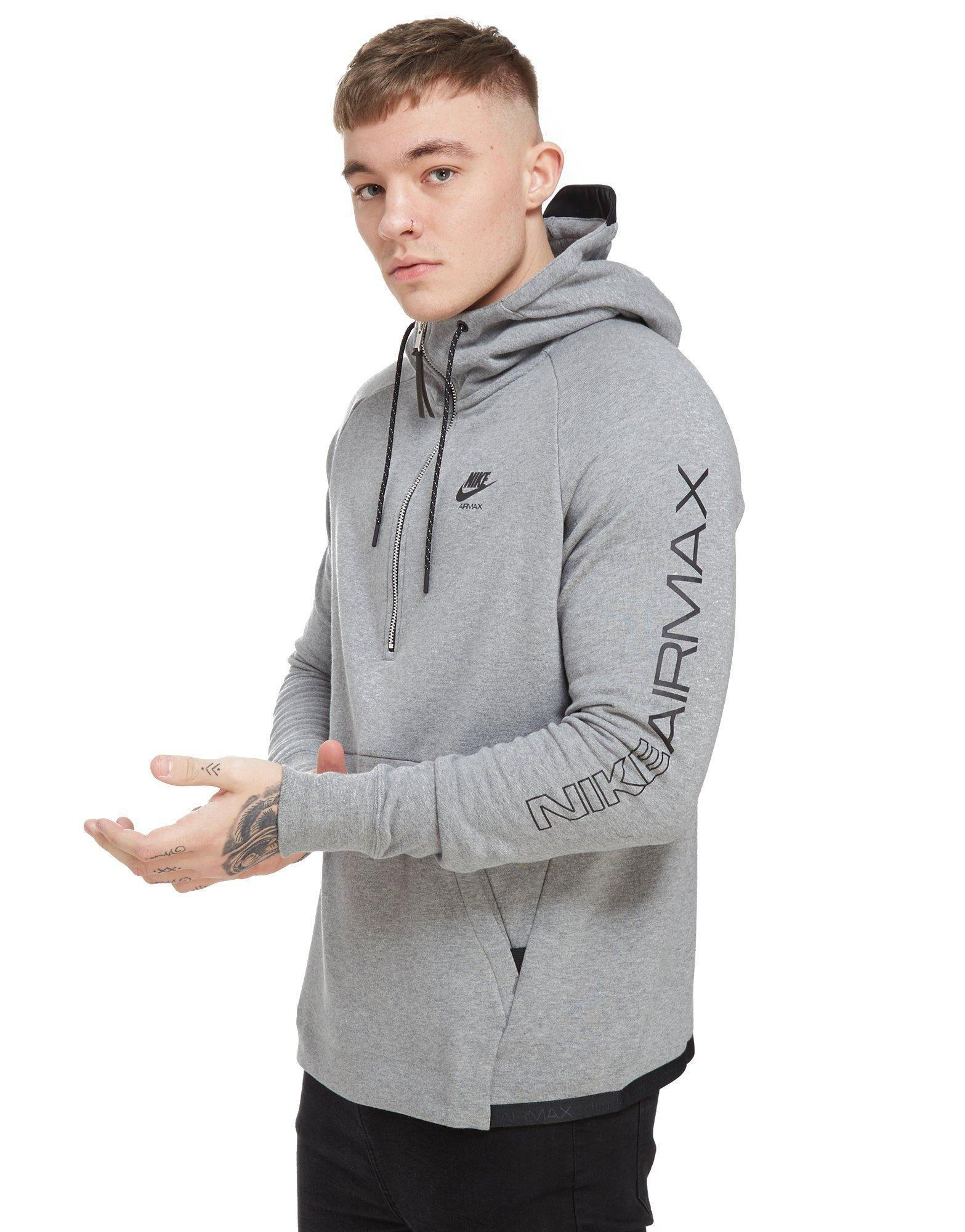 0b5f219d3e01 ... promo code nike airmax ft 1 2 zip hoodie in gray for men lyst fc998  43cfb
