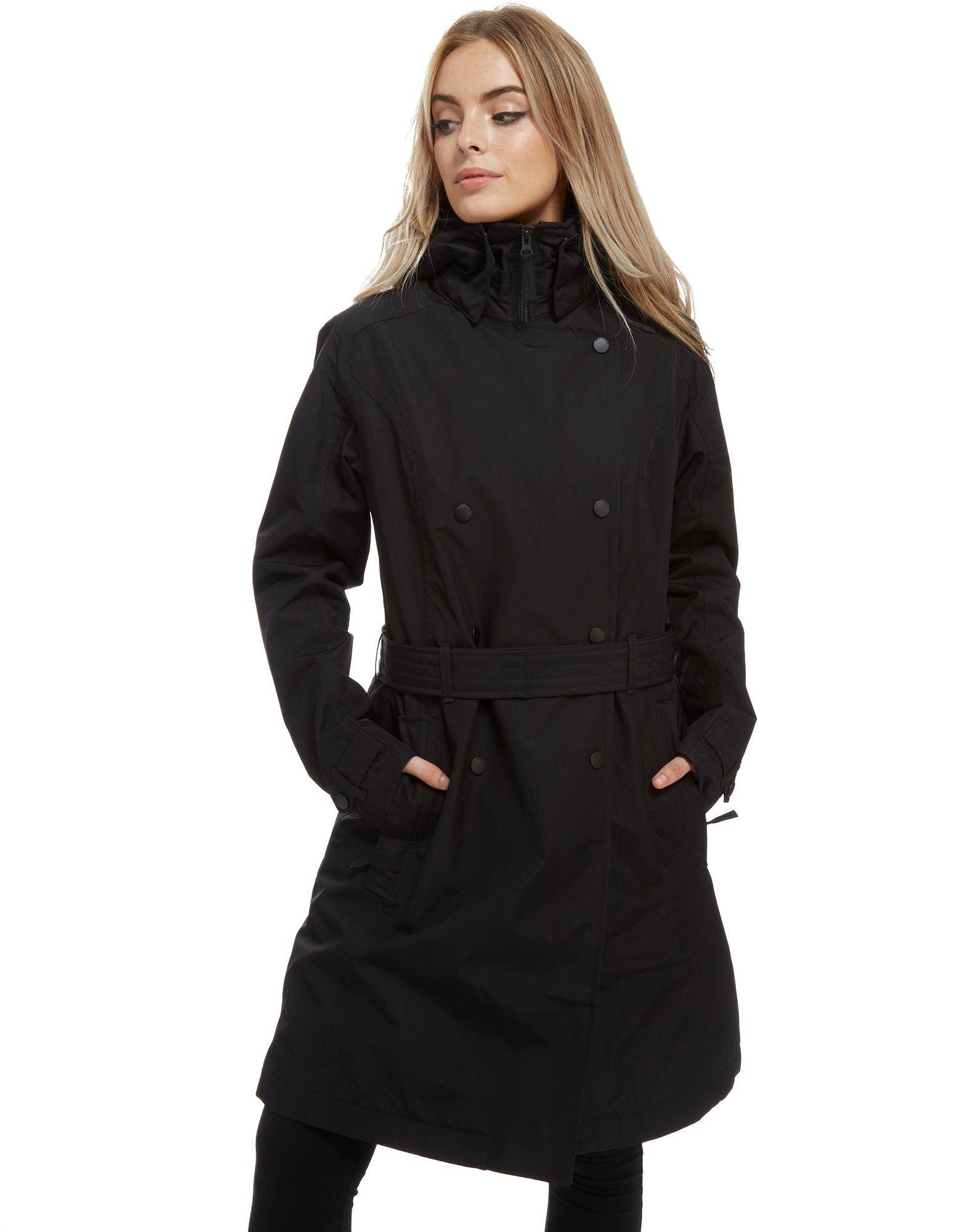ebe2e247459 Lyst - Helly Hansen Wesley Insulated Trench Coat in Black