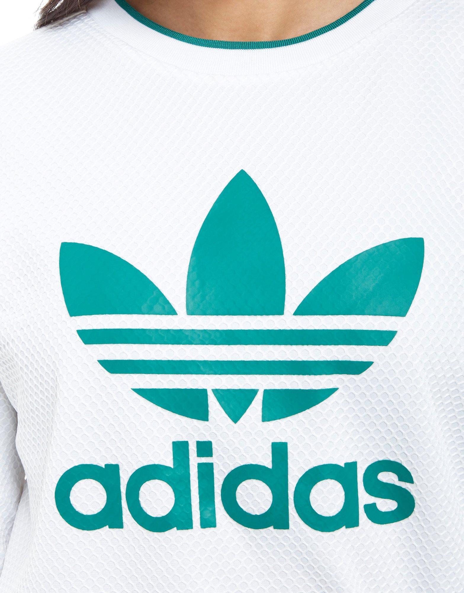 Sweatshirt Eqt Crew Originals Adidas Mesh White In Lyst fbg6vYymI7