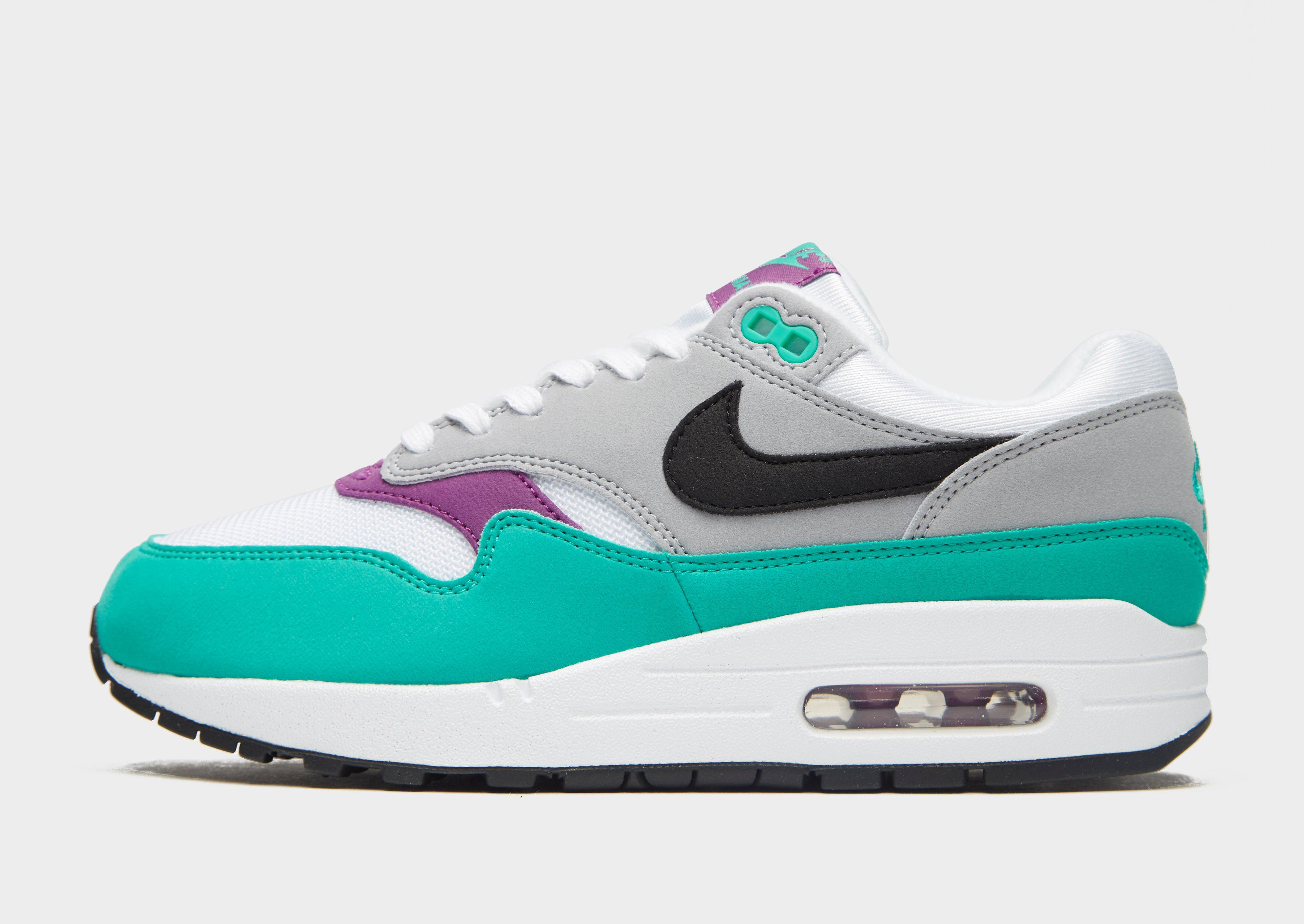 736b629e8dd9 Lyst - Nike Grey And Green Air Max 1 Trainers in Green