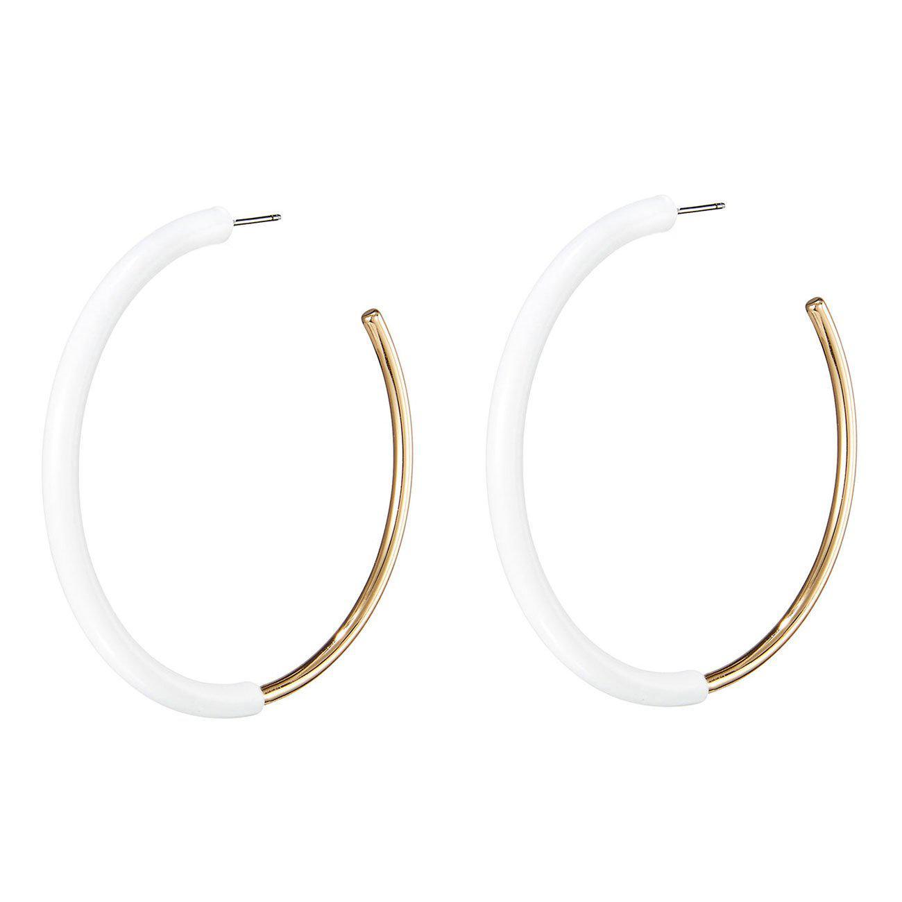 Lola Hoop Earrings in White JENNY BIRD cllADKGtpz