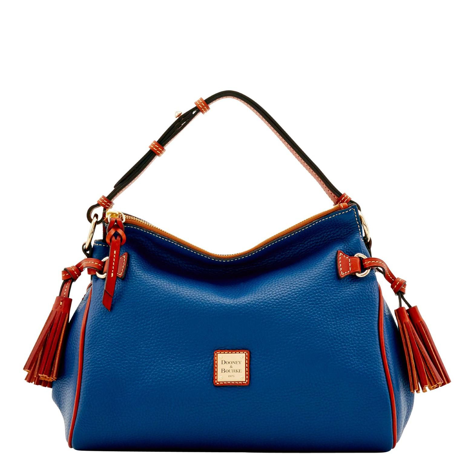 5dae6084b Lyst - Dooney & Bourke Pebble Grain Medium Zip Hobo in Blue