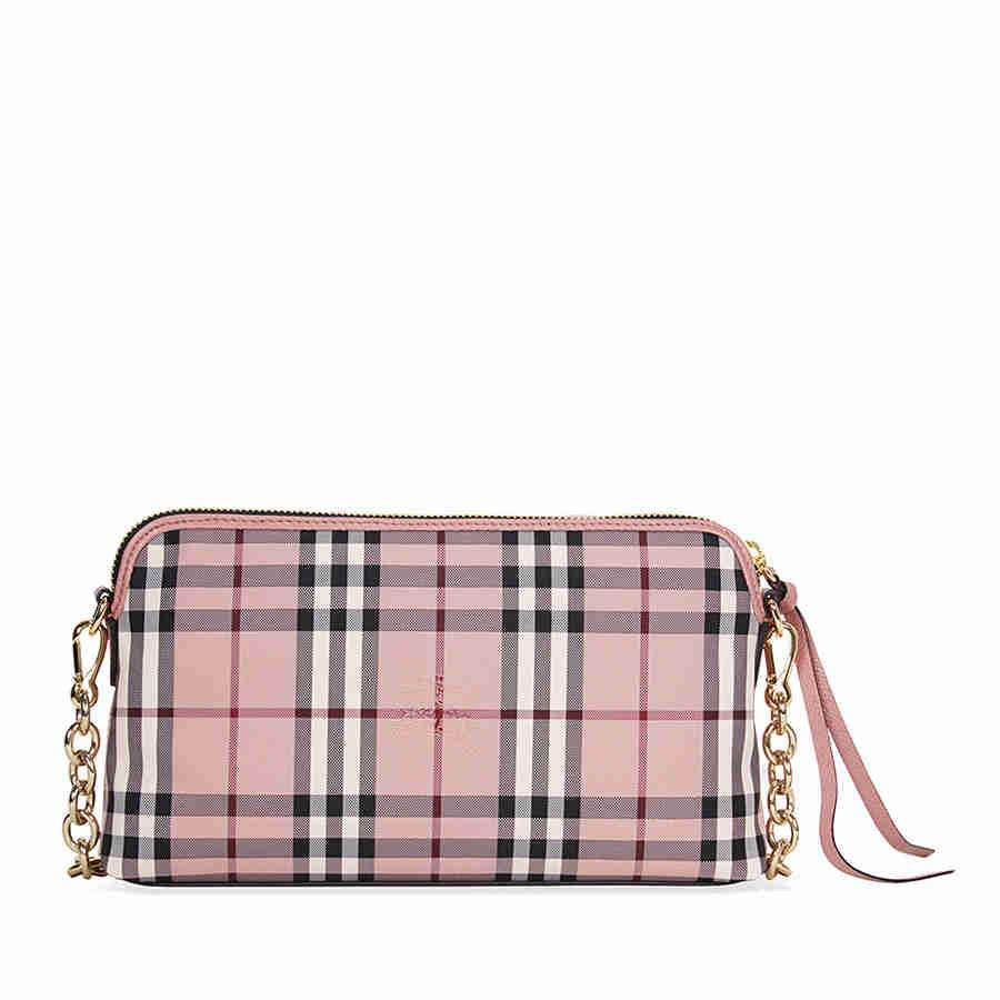 891c548c7c6 Lyst - Burberry Overdyed Horseferry Check Leather Clutch