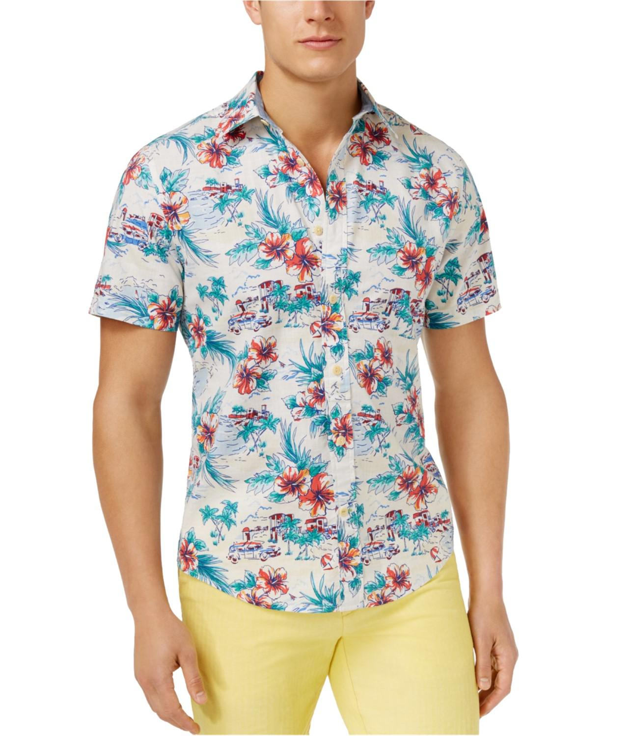 c1f138614b3b Lyst - Tommy Hilfiger Tropical Button Up Shirt White M in White for Men