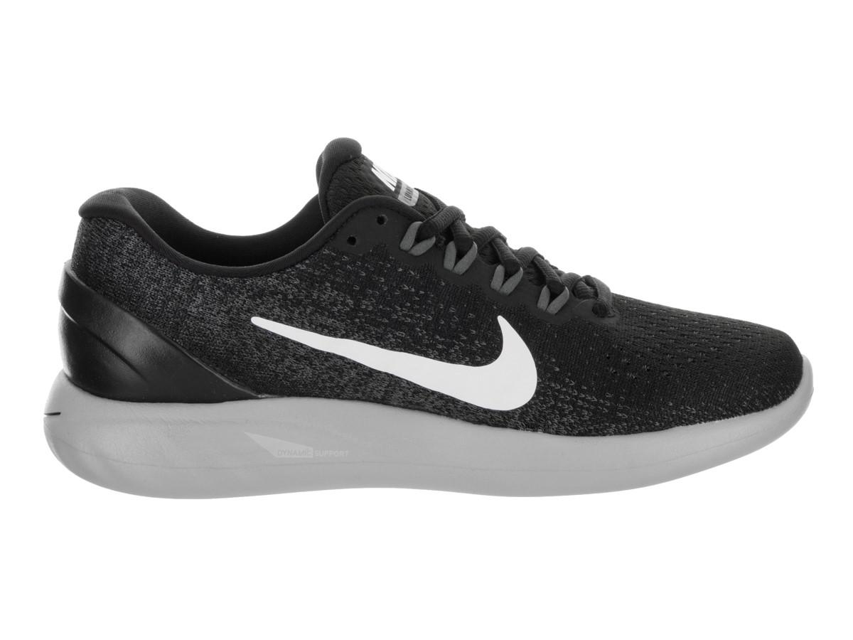 cd036acd8239 Lyst - Nike Lunarglide 9 Black white Dark Grey Running Shoe 10 Women ...