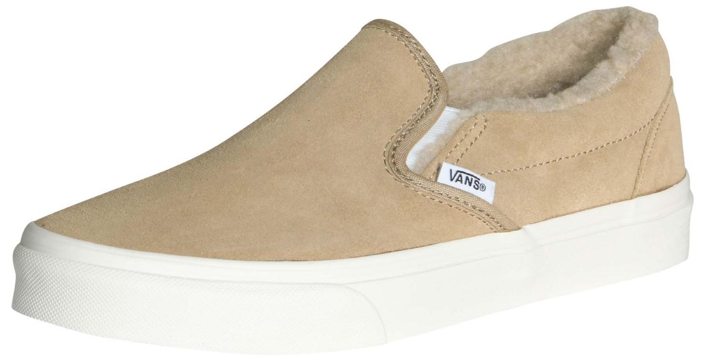 1fa72782ceb Lyst - Vans Unisex Classic Slip-on Suede fleece Skate Shoes-khaki-10 ...