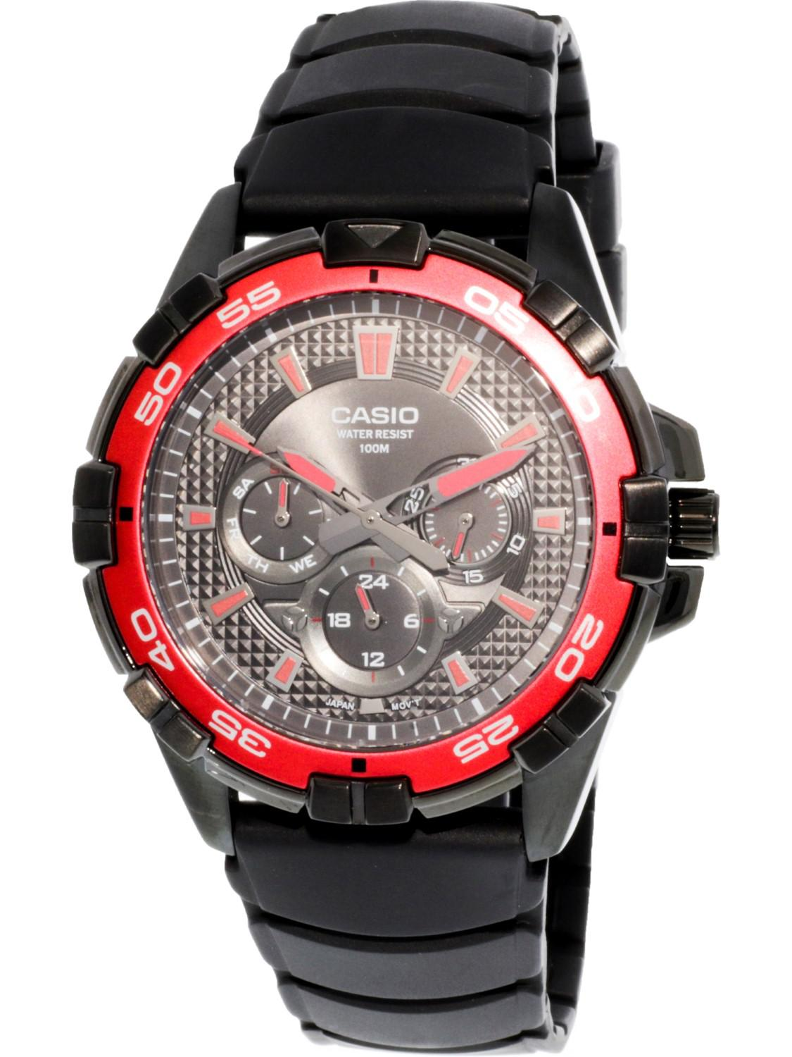 63d14043cf3c Lyst - G-Shock Round Analog Red Dial Resin Strap Watch in Black for Men
