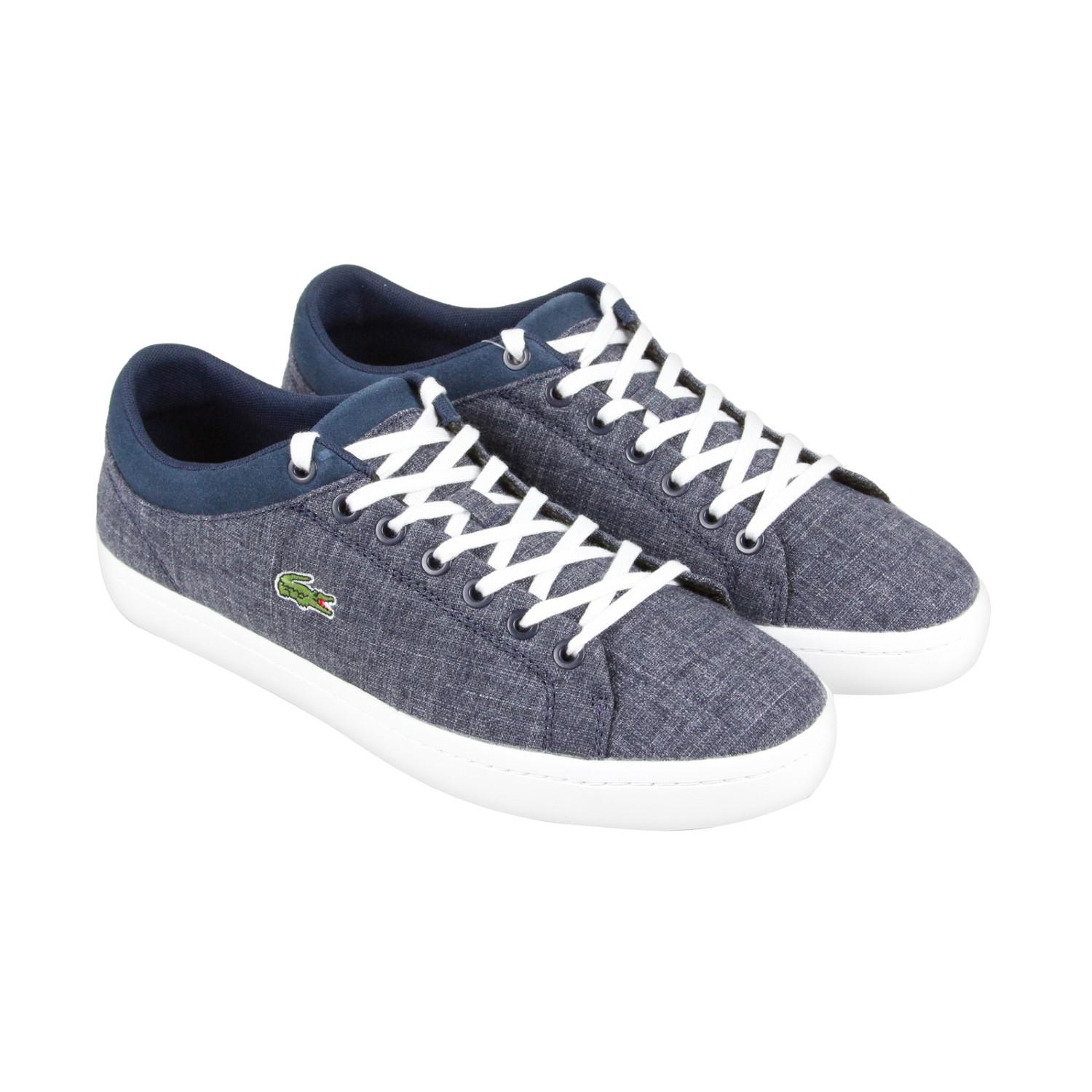 83d086963c97f Lyst - Lacoste Straightset Sp Navy Mens Lace Up Sneakers in Blue for Men