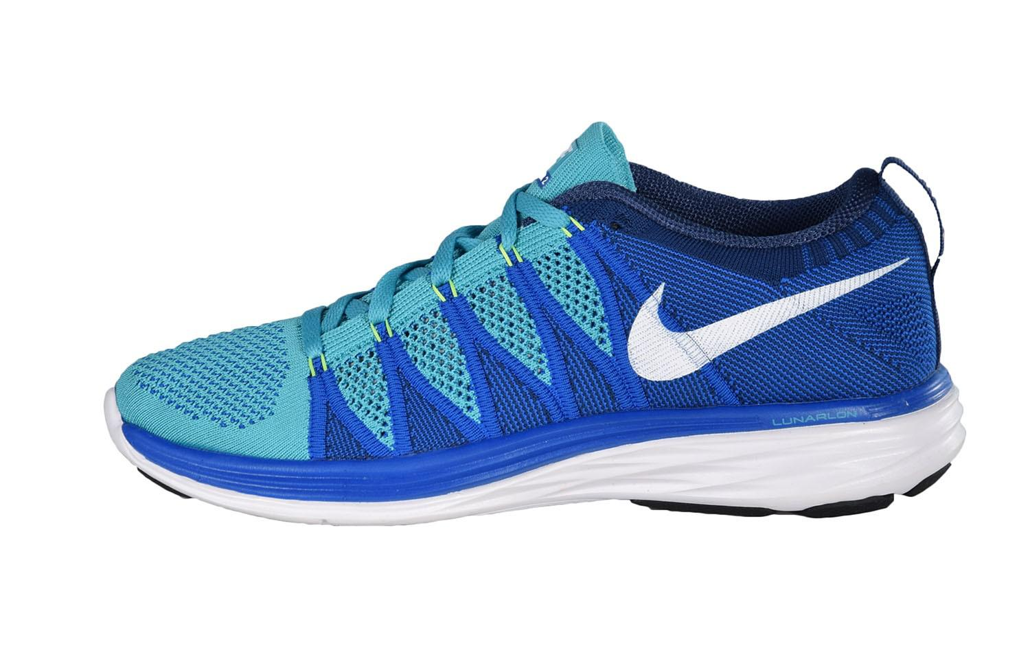 b2b840bf12943 Lyst - Nike Flyknit Lunar 2 Running Shoes Size 11 in Blue for Men
