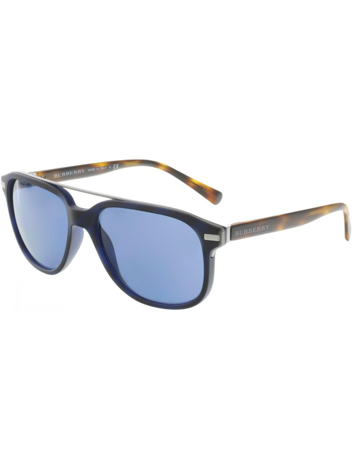 d88bb8ccdd7c Lyst - Burberry Be4233-362180-57 Blue Square Sunglasses in Black for Men