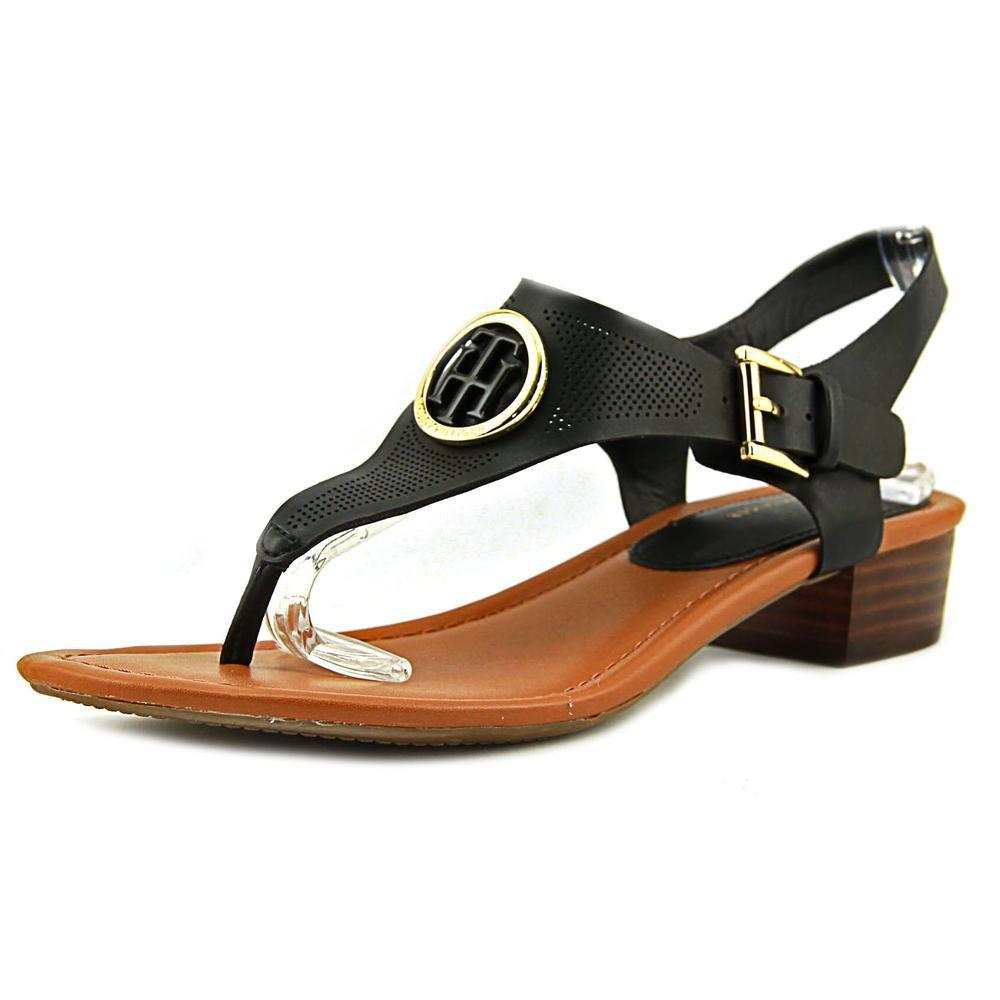 7ba6621c2907 Lyst - Tommy Hilfiger Kandess Women Us 6.5 Black Sandals in Black