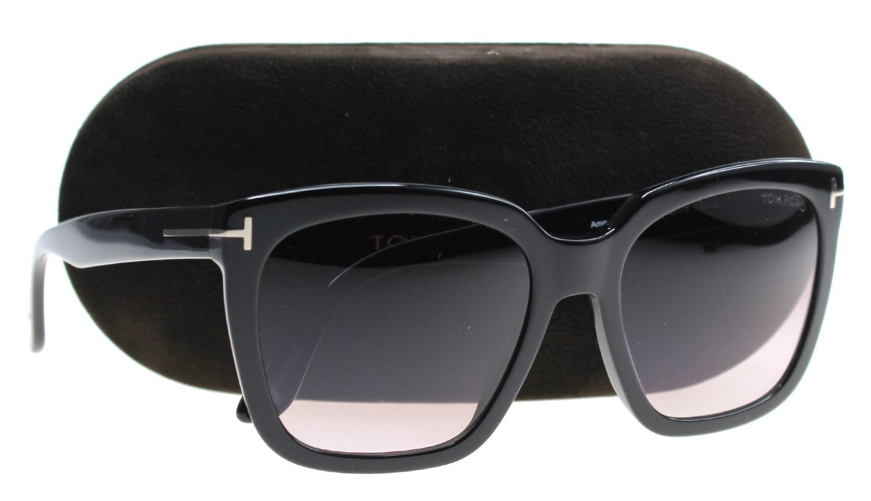 fa7c565f73 Tom Ford Sunglasses Amarra Tf 502 Ft 01t Shiny Black   Gradient ...