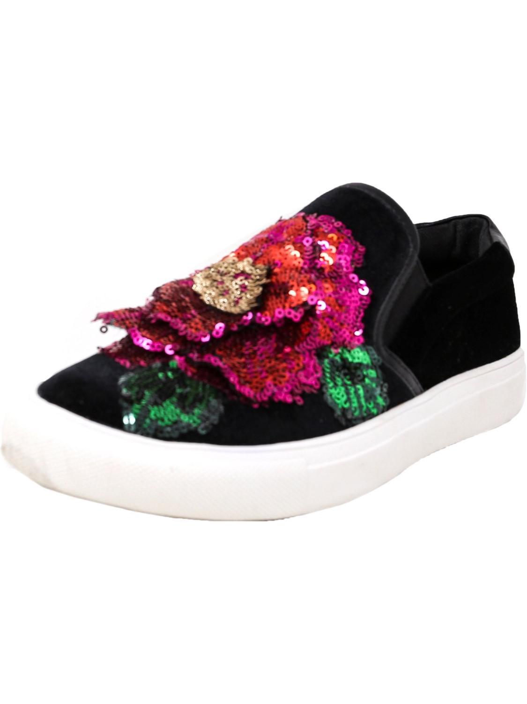 09ea7ae4f2f Lyst - Steve Madden Aloha Ankle-high Velvet Slip-on Shoes - 9m in Black