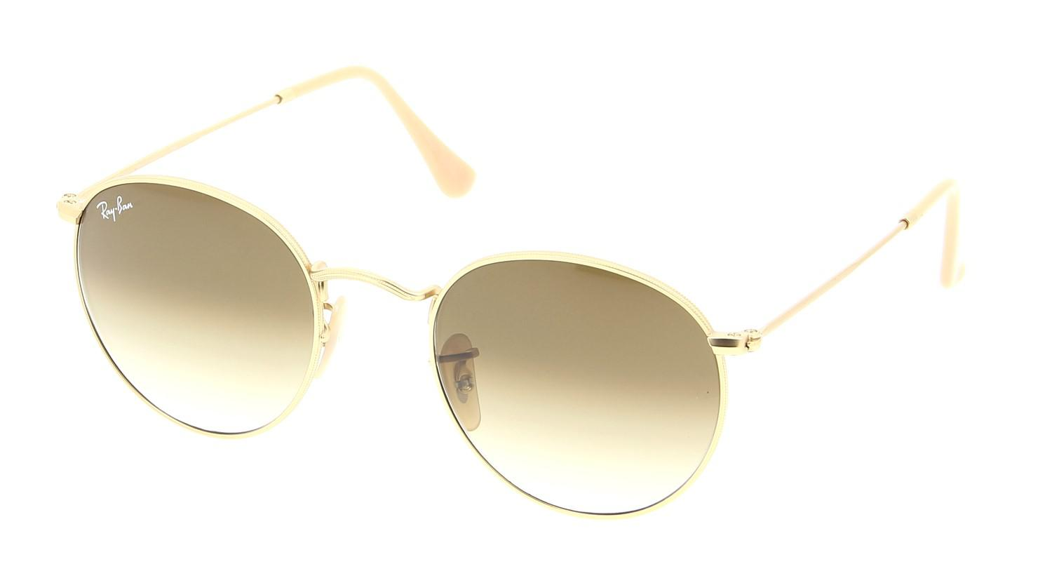 6c0d4dc606 Lyst - Ray-Ban 0rb3447 112 51 50 Matte Gold clear Gradient Brown ...