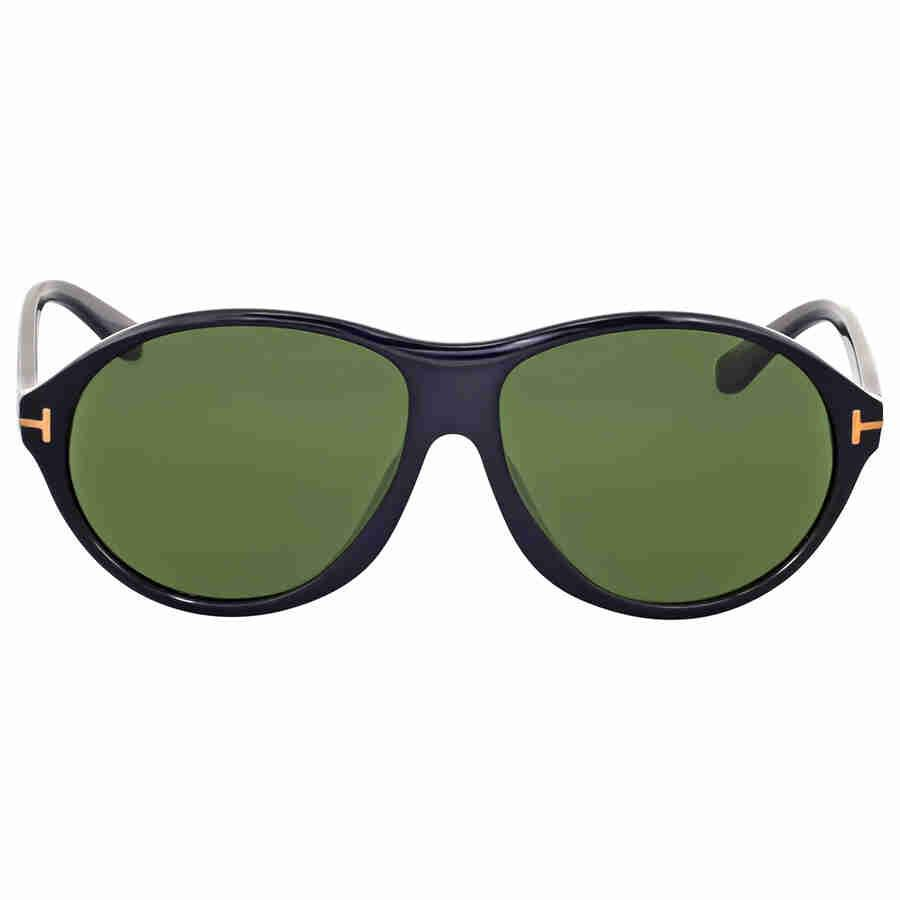 2f7302cb6803 Lyst - Tom Ford Tyler Round Green Sunglasses in Black