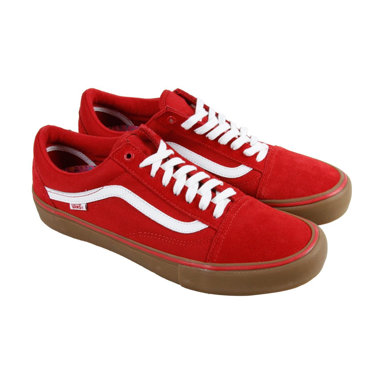 vans old skool pro pompeian red