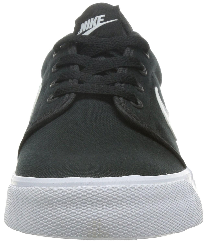 272b1db87173 Lyst - Nike 555272-020  Toki Low Txt Black white Canvas Casual ...