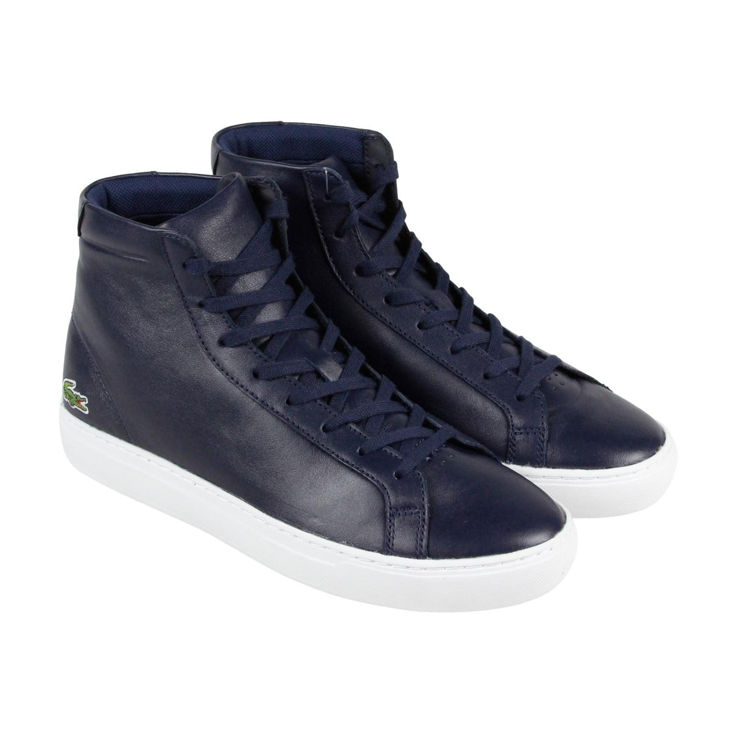 99007b6e36 Lacoste L.12.12 Mid 316 1 Cam Blue Mens High Top Sneakers in Blue ...